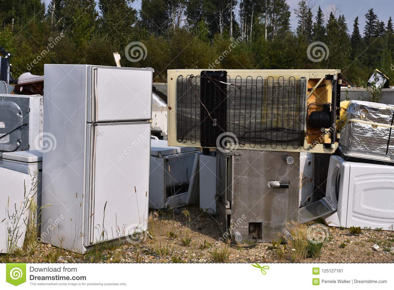 Appliance Recycling Stock Image Image Of Industry Stove 125127161