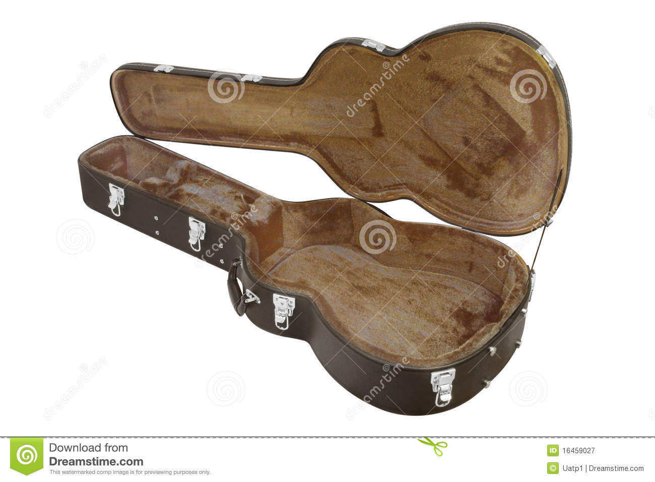 the image of open guitar case stock image image of carry leather 16459027. Black Bedroom Furniture Sets. Home Design Ideas
