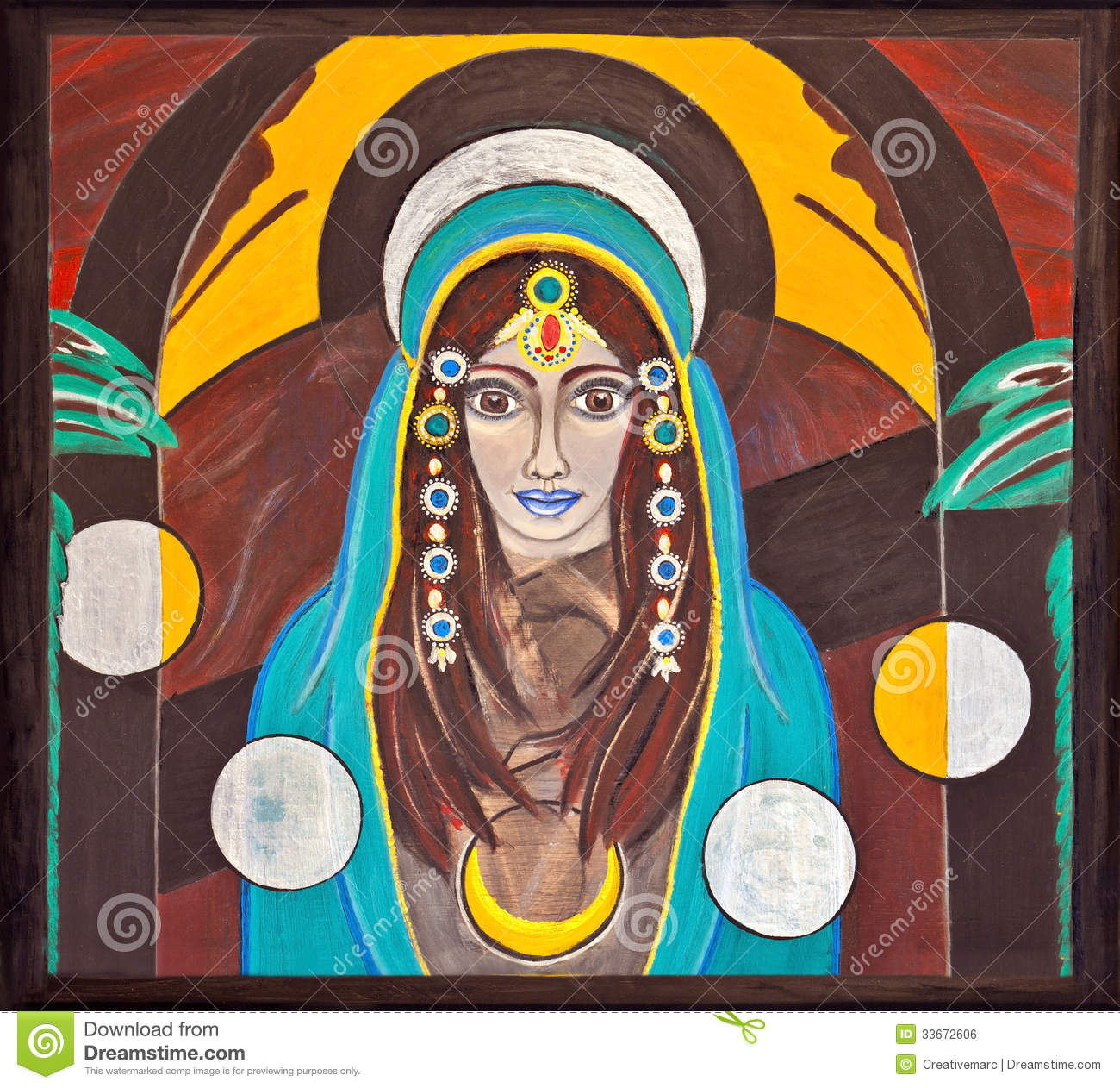 Image of an oriental, holy and spiritual woman