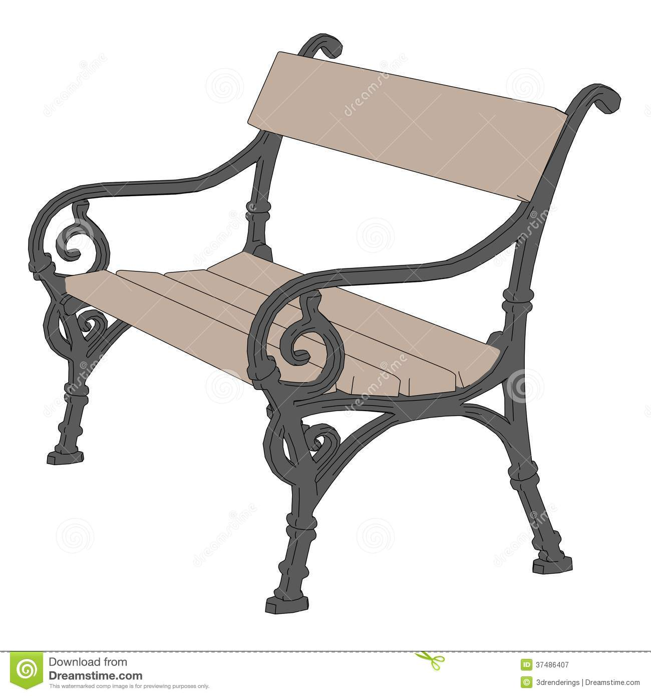 Image Of Park Bench Royalty Free Stock Photography - Image: 37486407