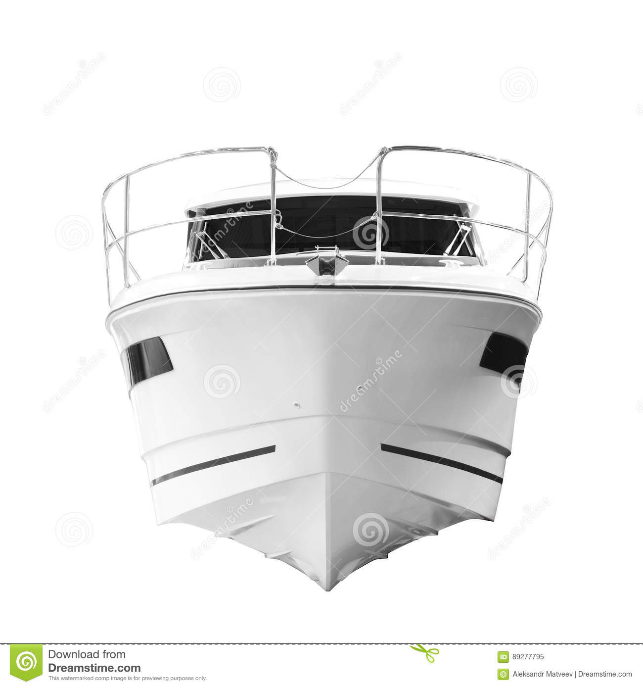 Bow Of A Boat >> The Image Of An Passenger Motor Boat Bow Of The Ship Front View