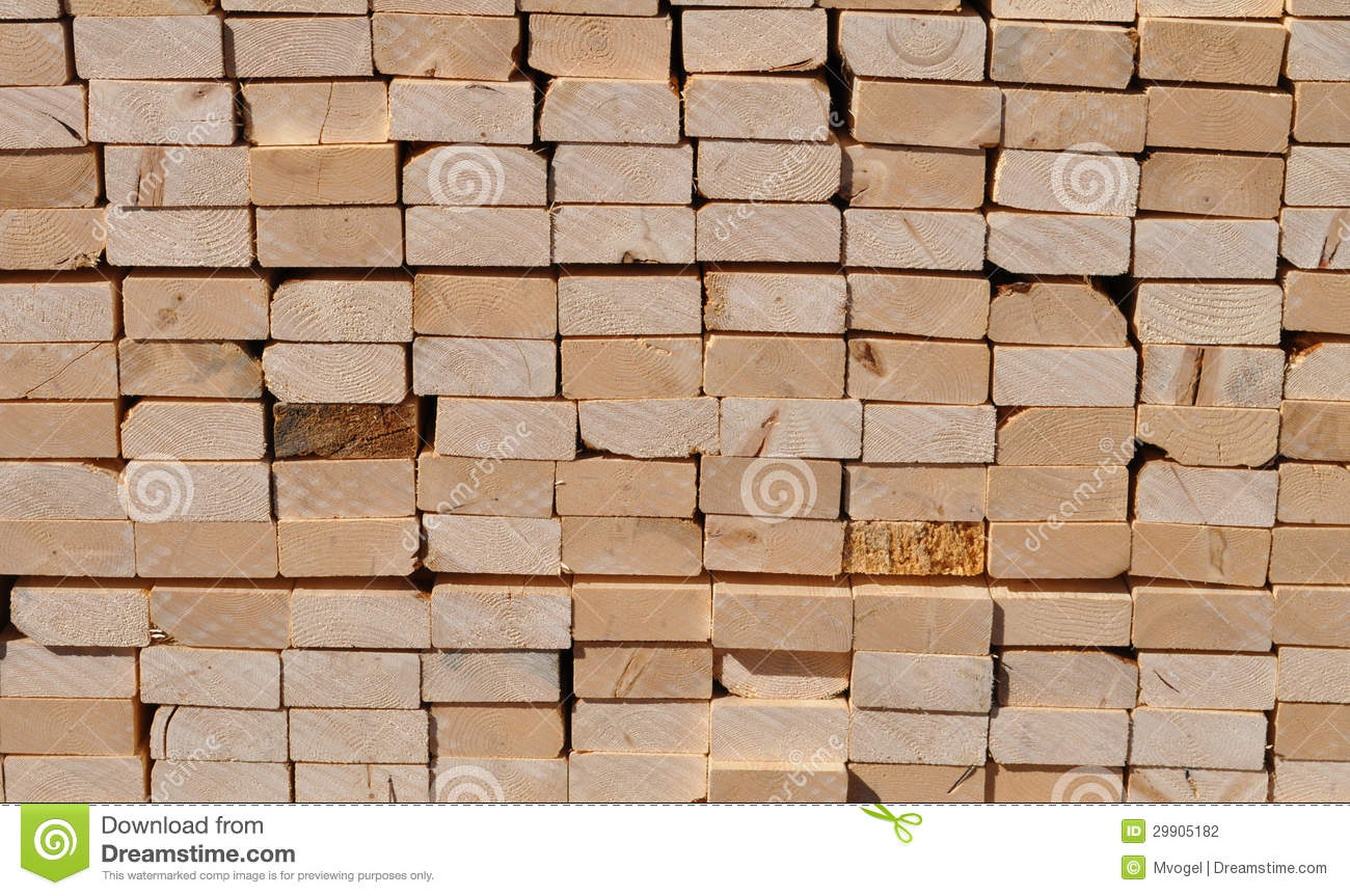 Pile of lumber stock photography image