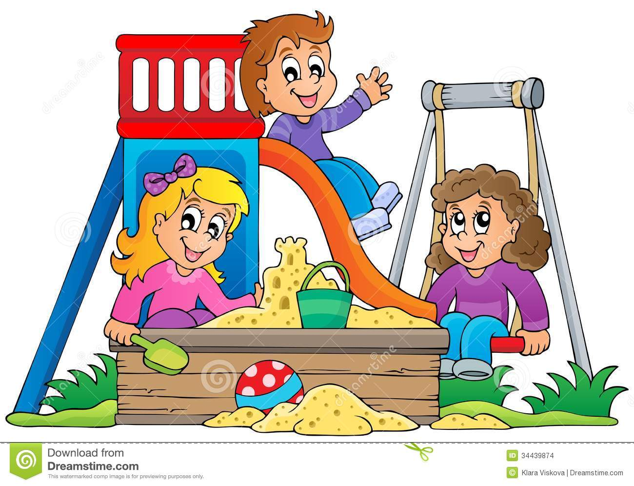 Image With Playground Theme 1 Stock Images 34439874