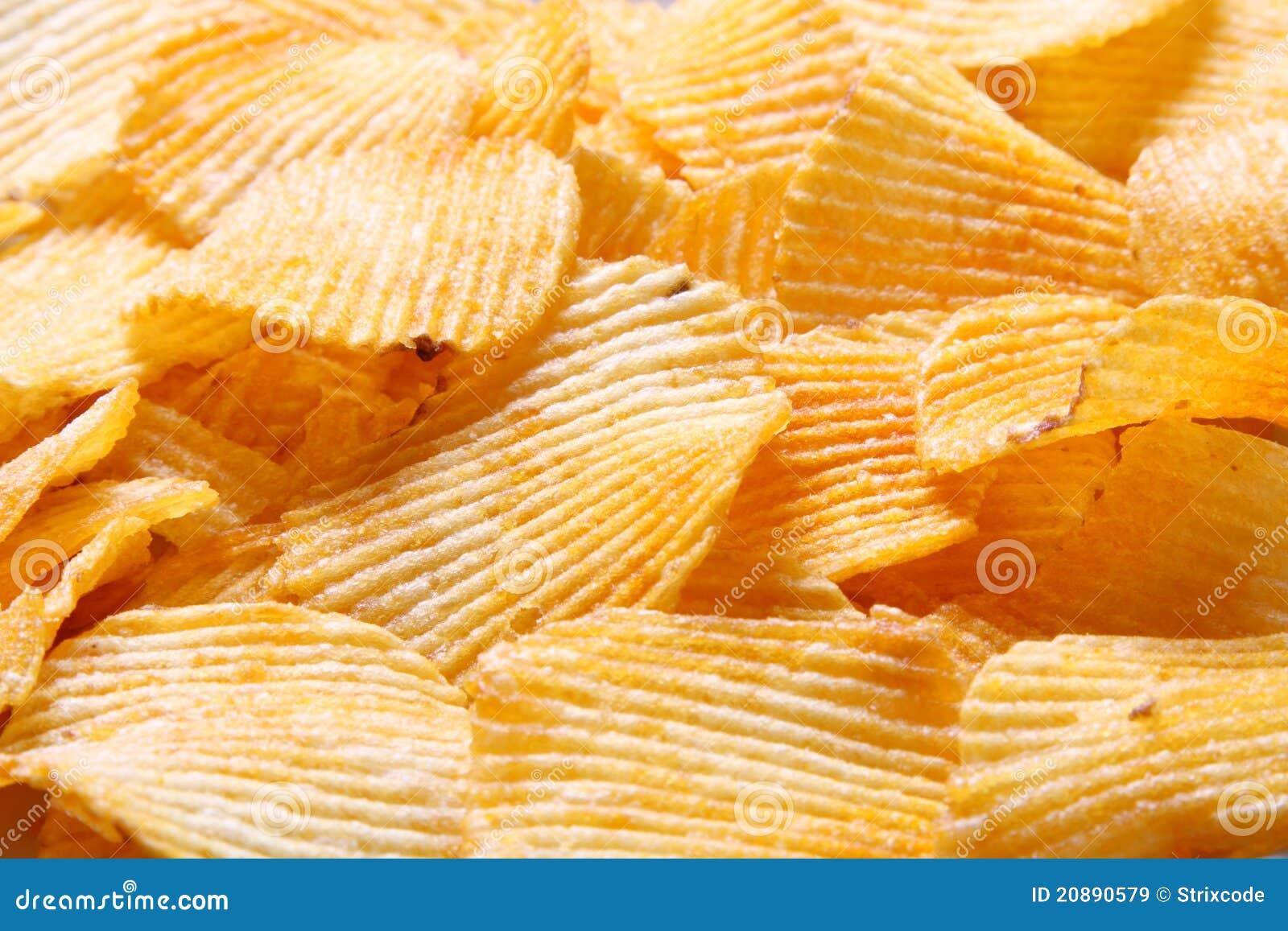 Image of potato chips background