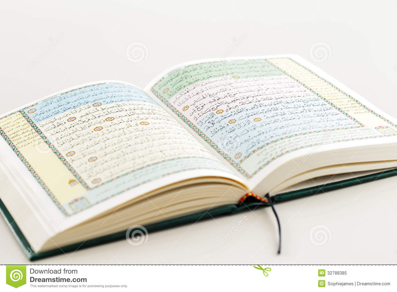 An Image Of Quran On A White Background Stock Image - Image