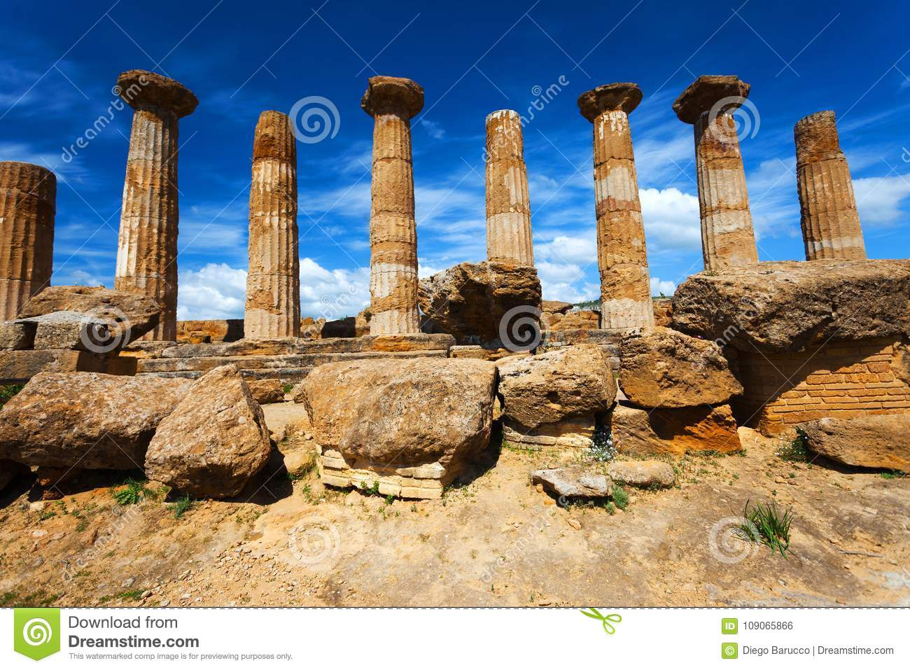 Hercules Temple in Agrigento archaeological park. Sicily