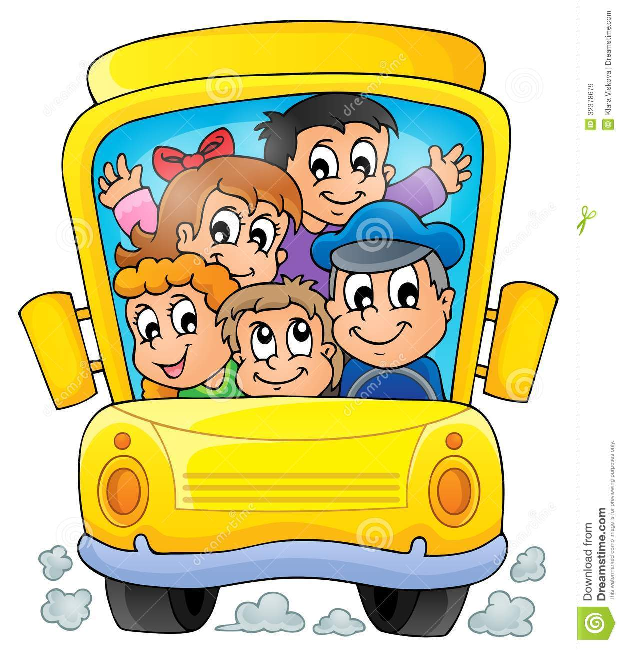 Image With School Bus Theme 1 Royalty Free Stock Images