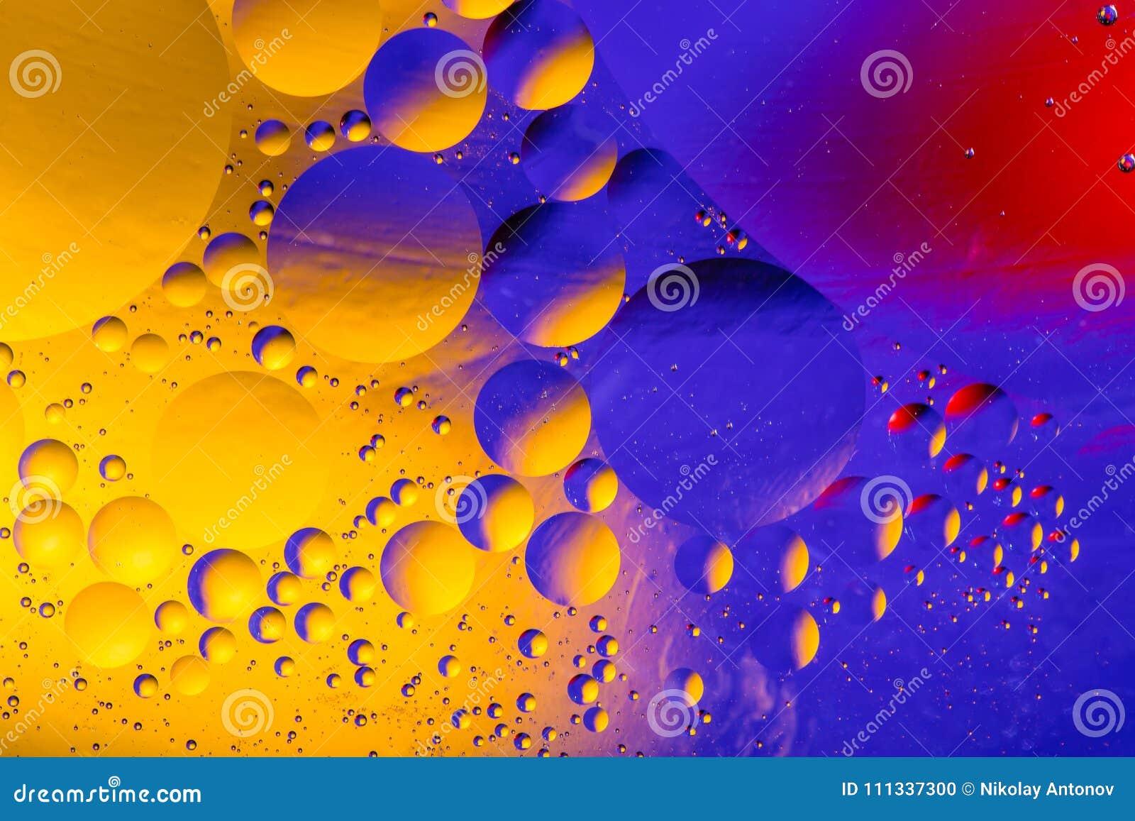 Image scientifique de membrane cellulaire Macro des substances liquides Sctructure abstrait d atome de molécule Bulles de l eau M