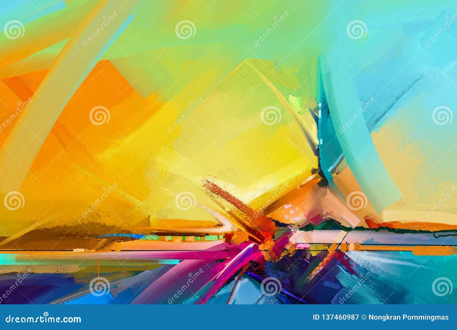 Image Semi Abstraite De Fond De Peinture De Paysage Peintures
