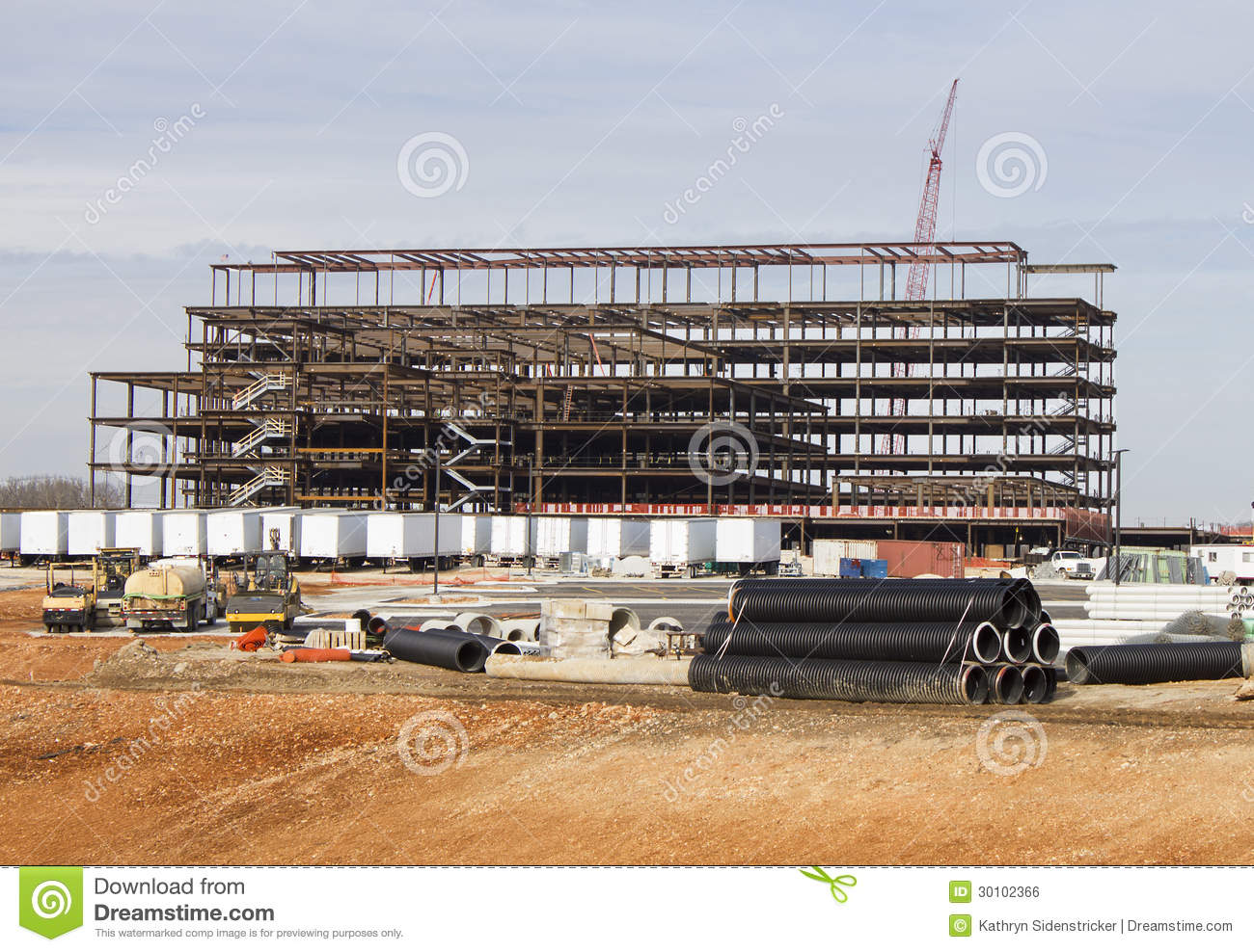 Royalty free stock image hospital construction site