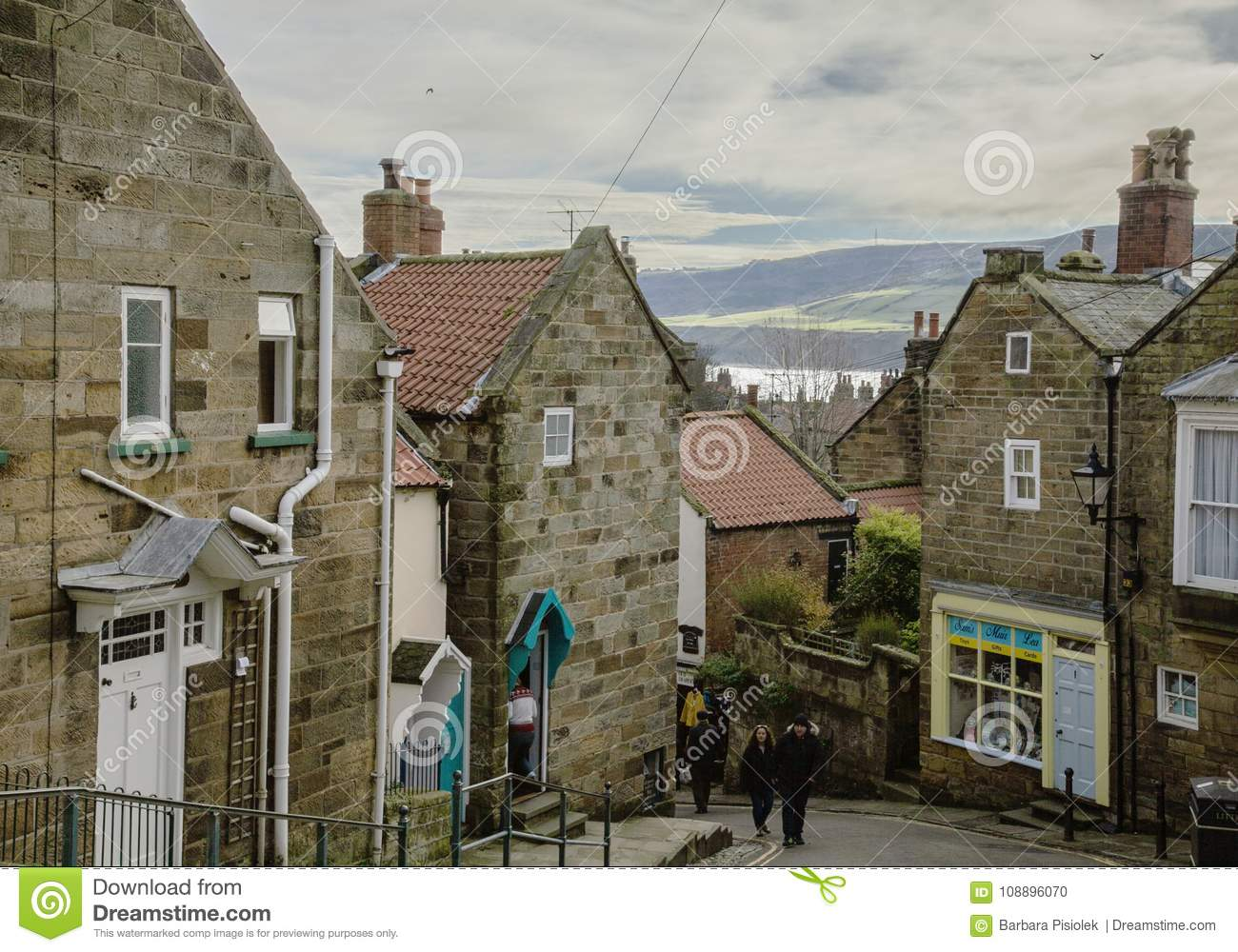 Robin Hood`s Bay - The Village And Its Stone Houses. Editorial Image ...