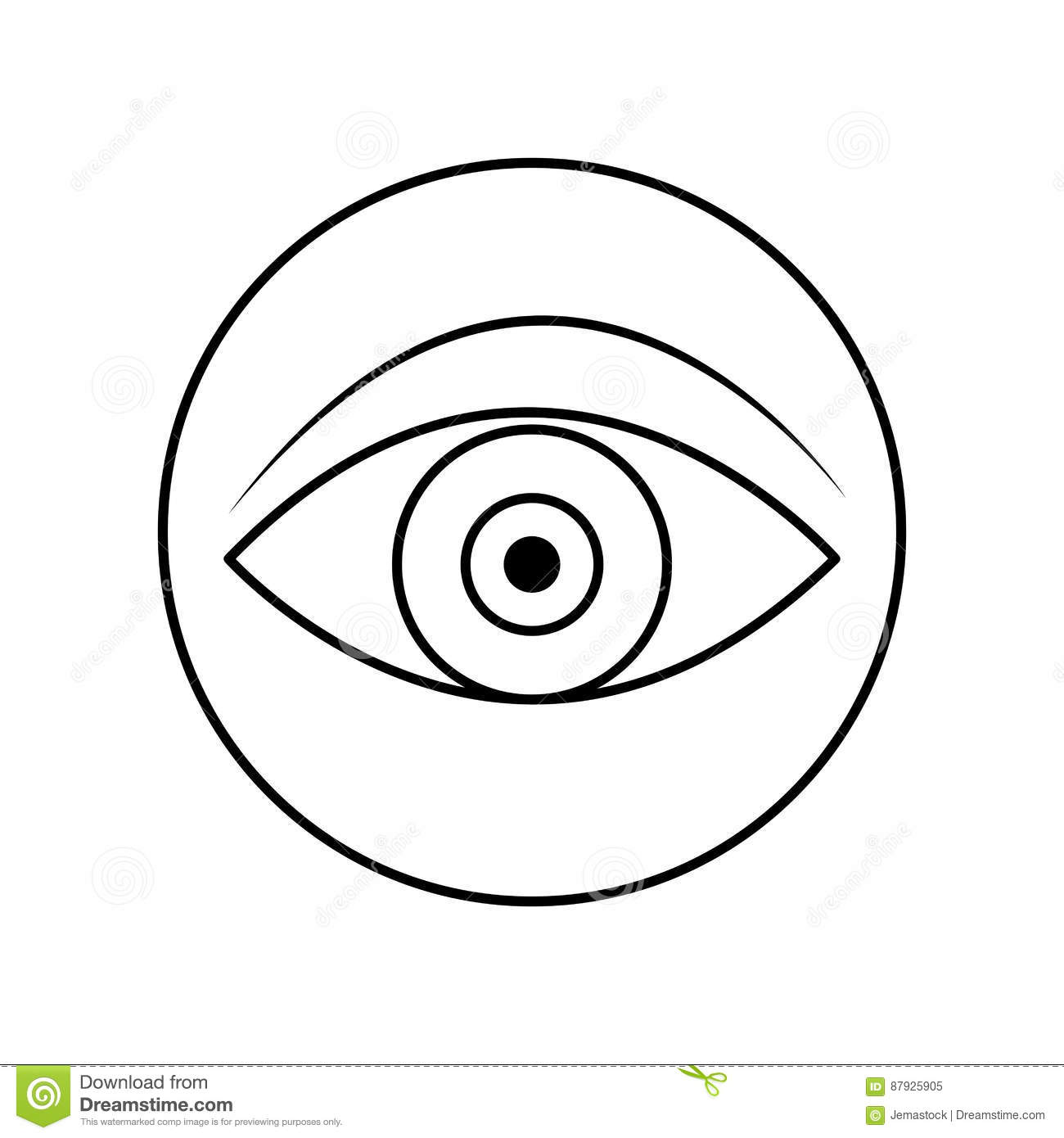 Image Simple D Icône D Oeil Illustration Stock