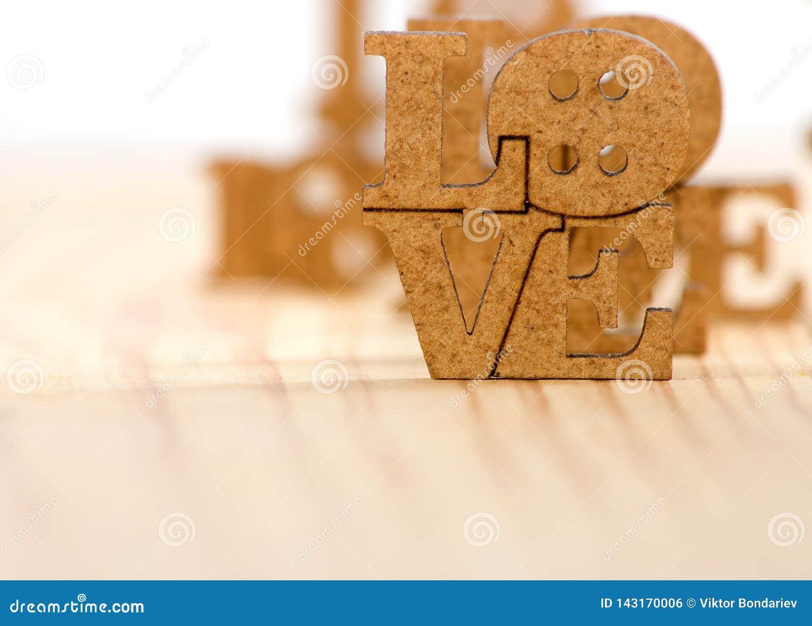 Image stylisée de l inscription de l amour comme symbole de l amour et de la dévotion