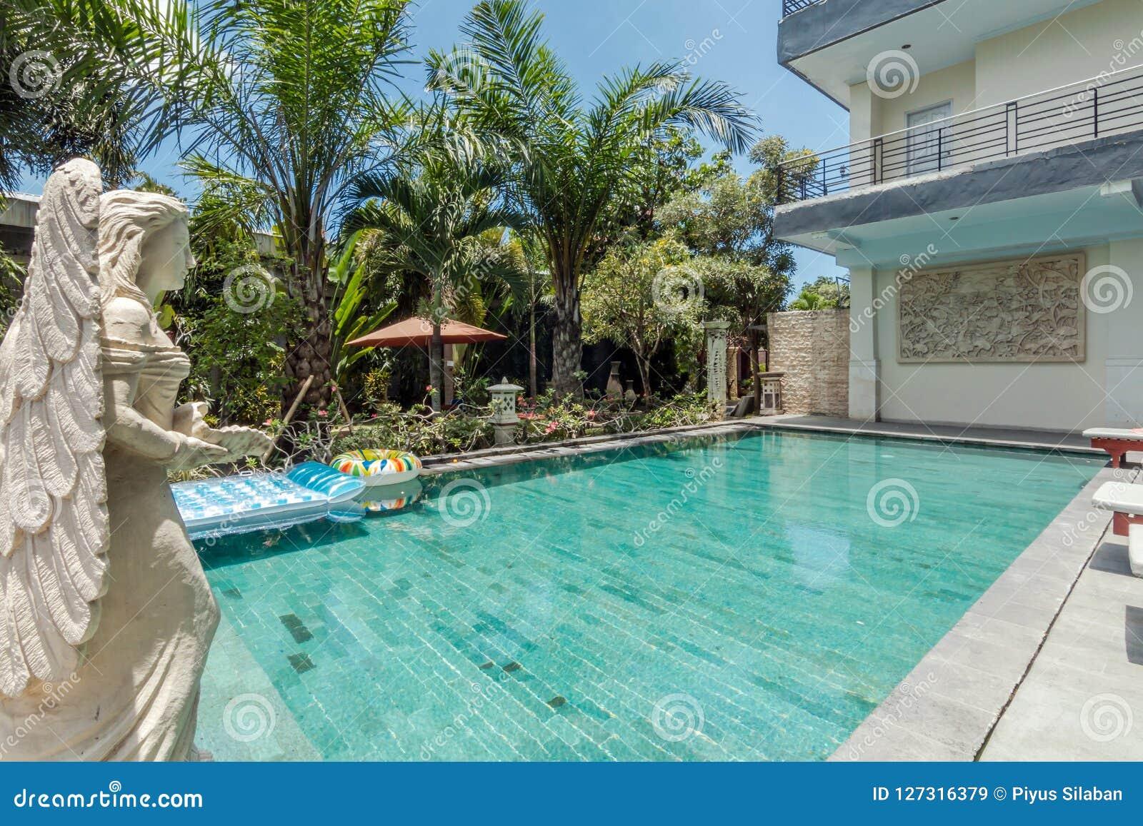 Beautiful Swimming Pool At Cheap Hotel Stock Image - Image ...