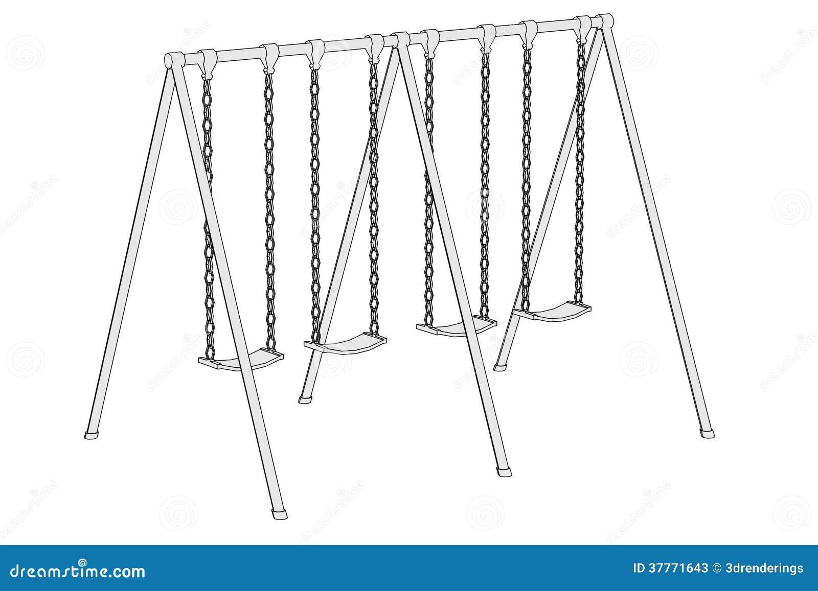 Image Of Swing (playground) Stock Illustration ...