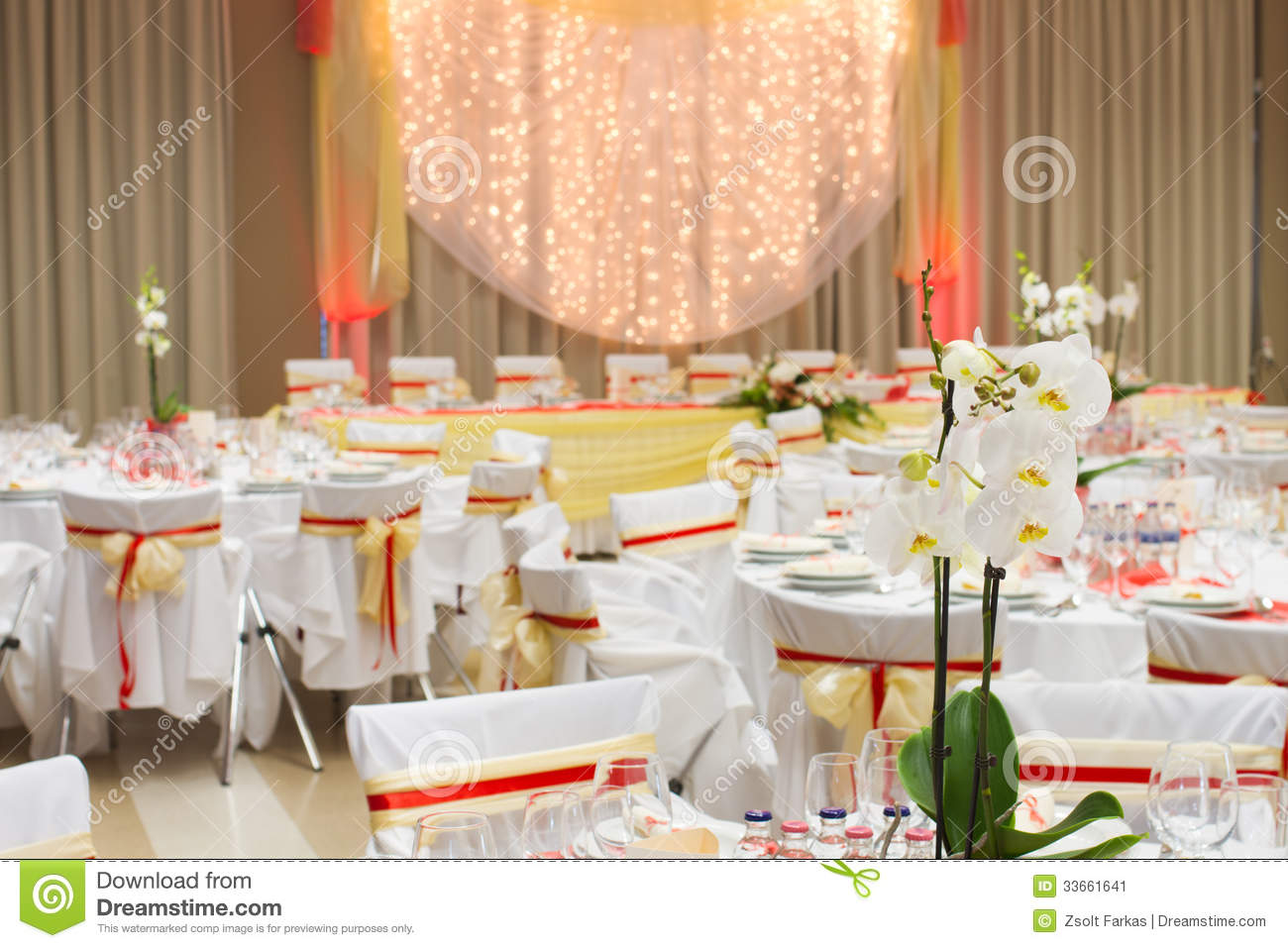 White Chairs At A Wedding Indoor Stock Photo: An Image Of Table Setting At A Luxury Wedding Reception