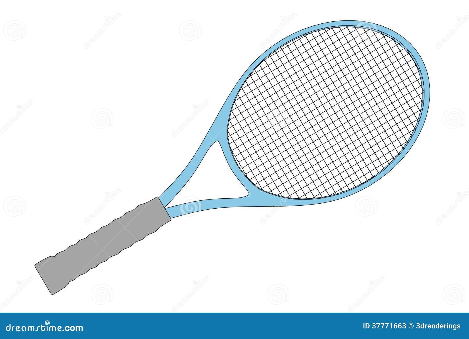 Image of tennis racket stock illustration illustration of - Raquette dessin ...