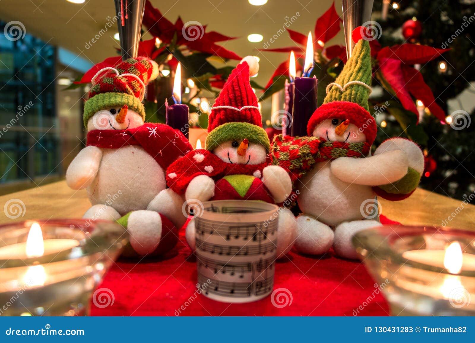 Christmas Snowmen Decorations.Christmas Snowmen Decorations Stock Image Image Of