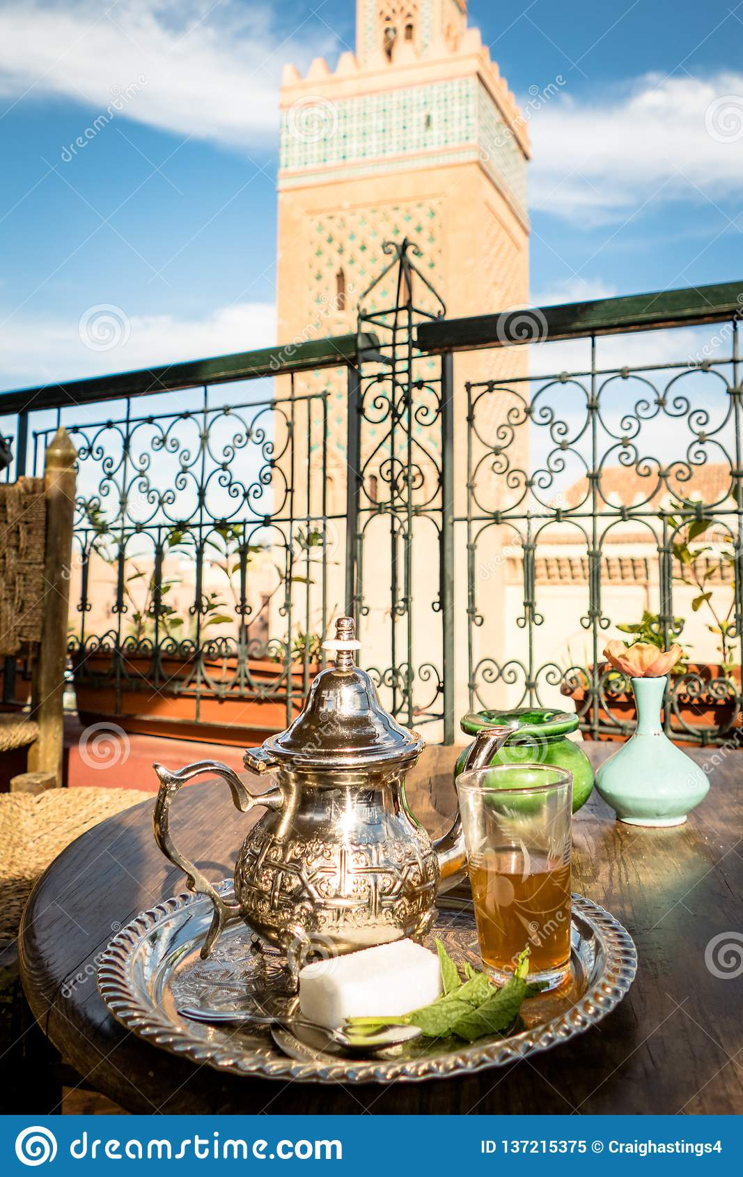 Image of Traditional Mint Tea Drink from Marrakesh Morocco