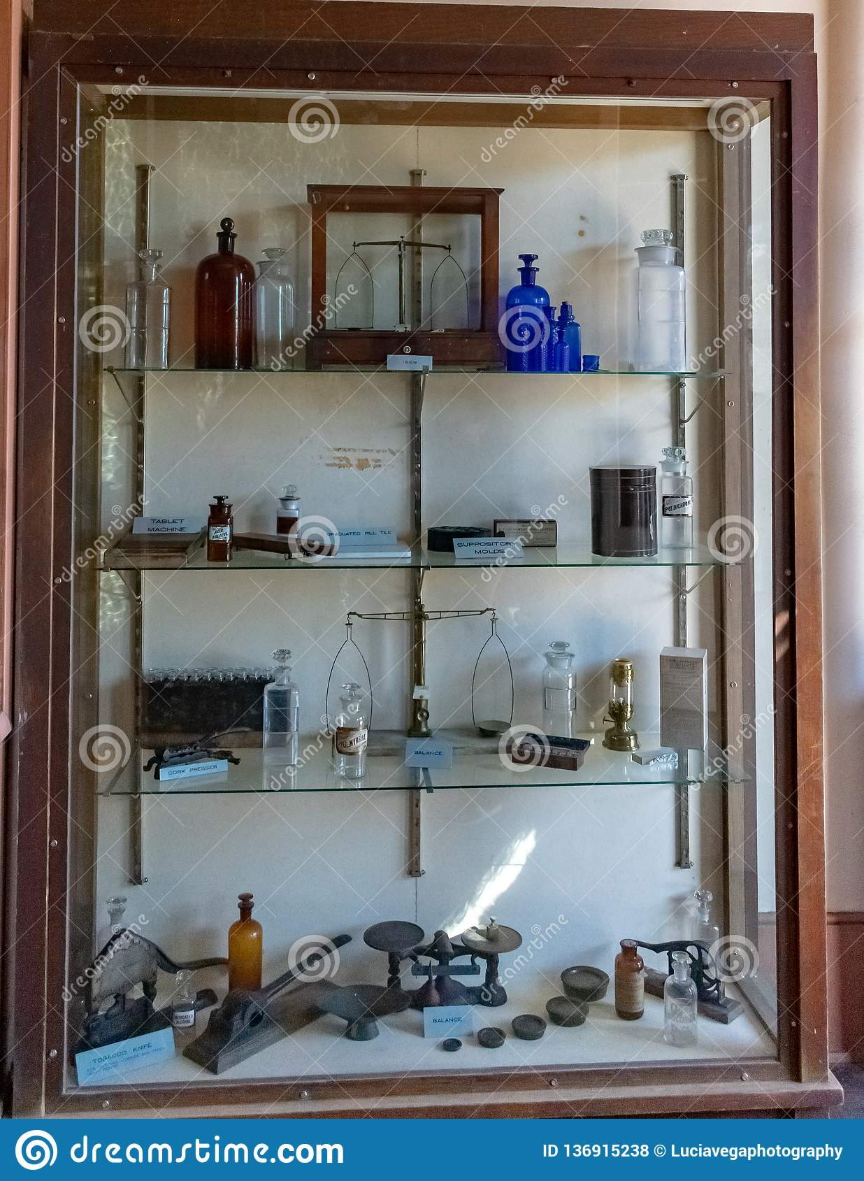 Old Medicine Cabinet With Empty Bottles In Columbia California Editorial Stock Photo Image Of Shopping Mines 136915238