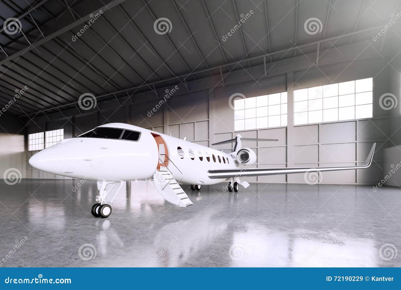 Image Of White Matte Luxury Generic Design Private Jet