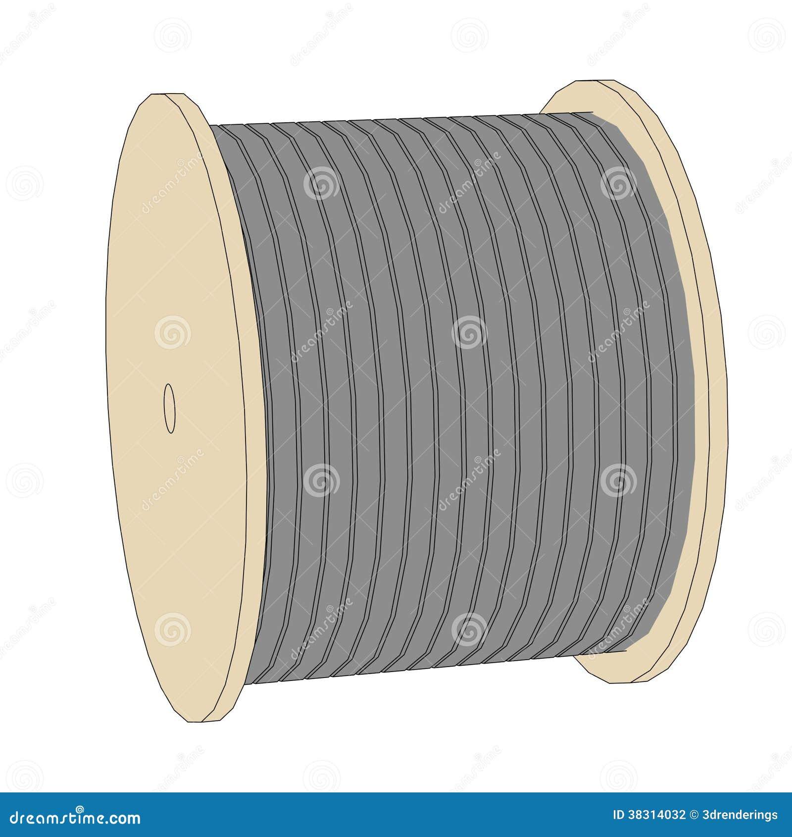 Image of wire spool stock illustration. Illustration of spool - 38314032