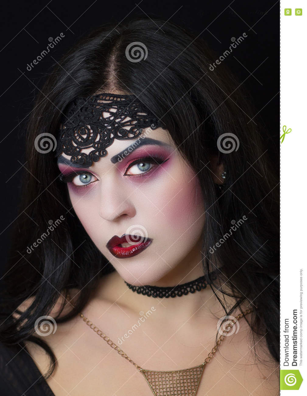 The Image Of The Witch Witch Celebration Makeup Witches Stock