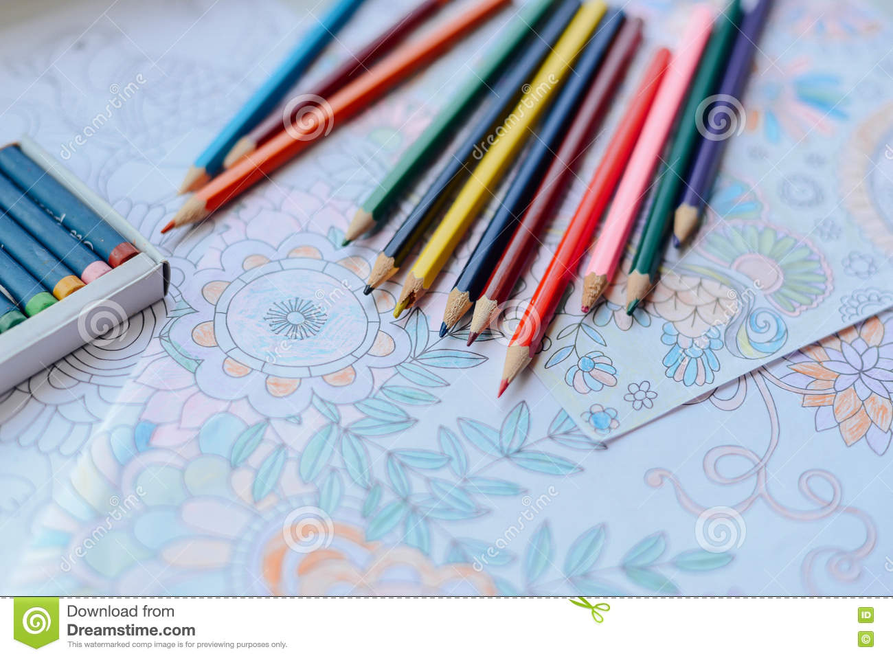 Image Of Woman Coloring Adult Book Trend For Stress R
