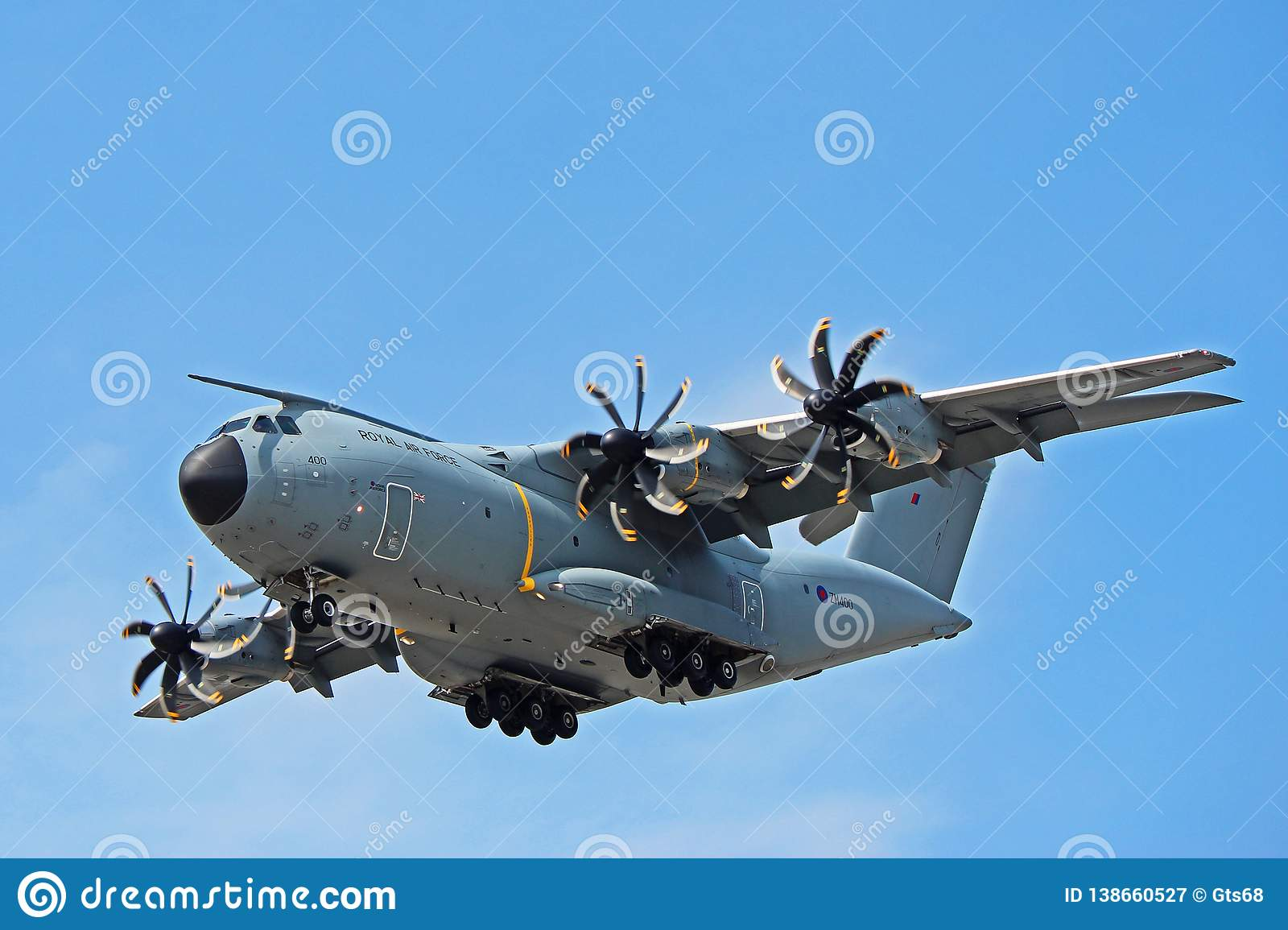 Royal Air Force Airbus A400M Front View Editorial