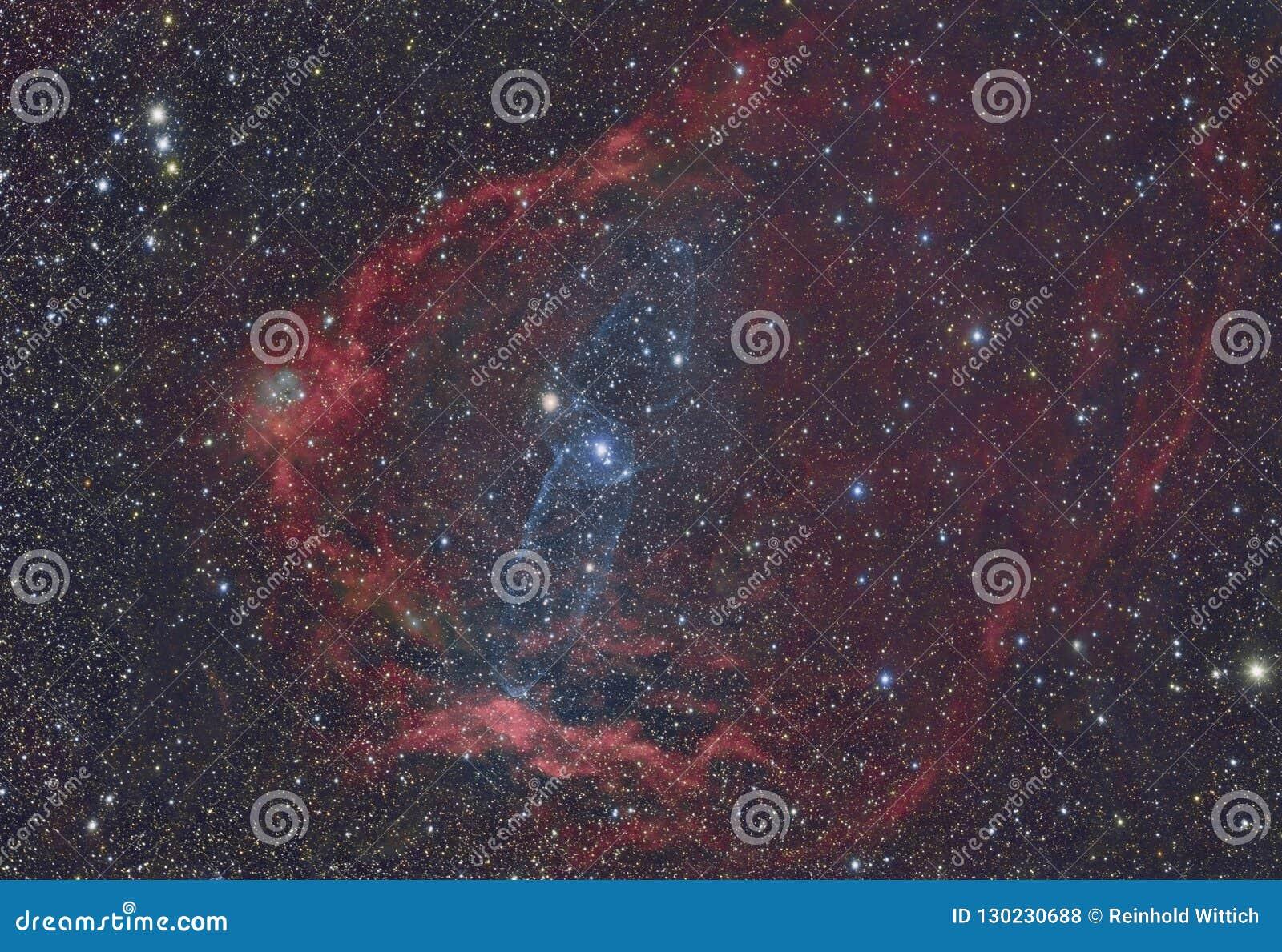 SH2-129 Flying Bat Nebula and OU4 Squid Nebula