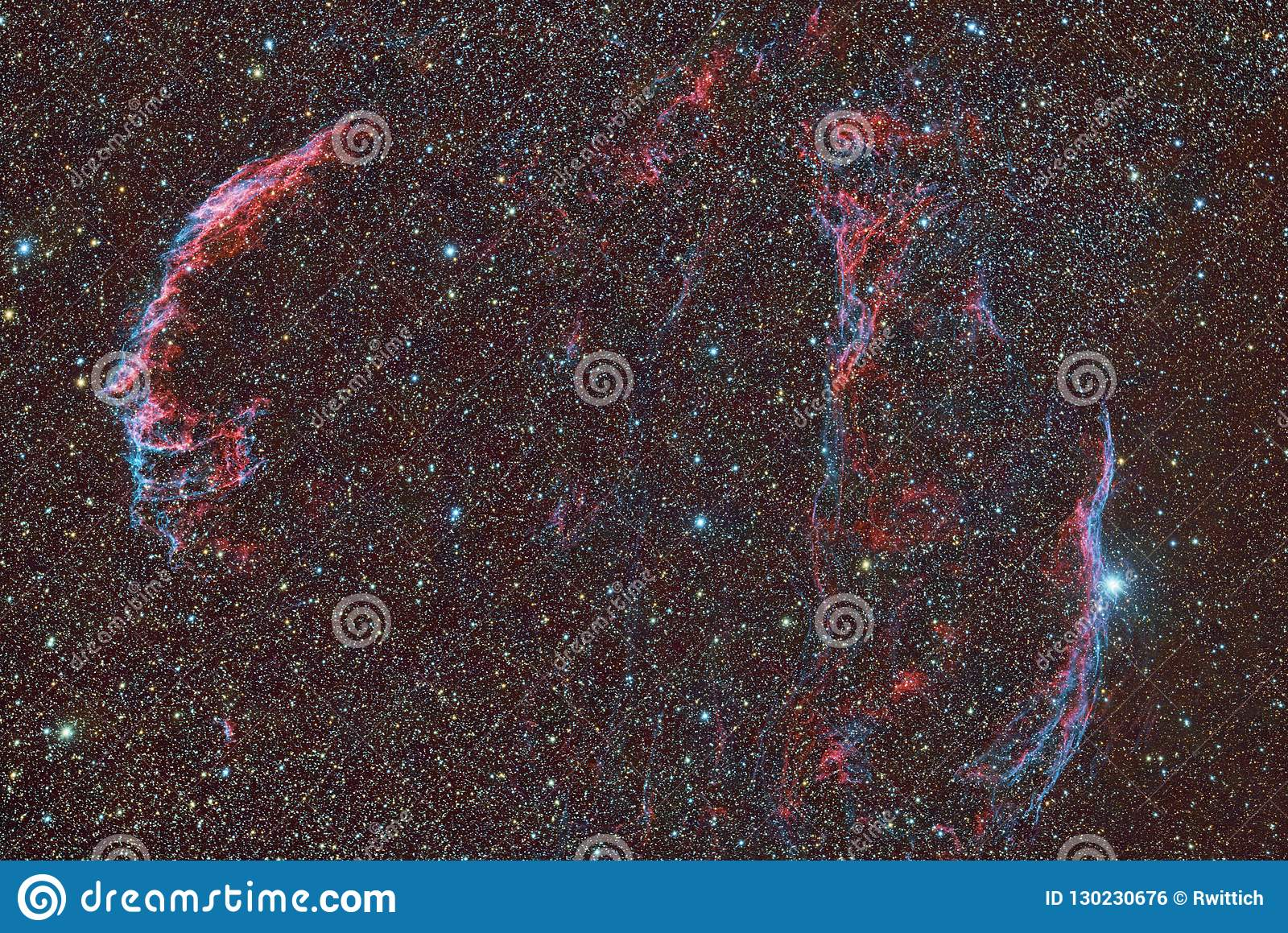 Veil Nebula entire field