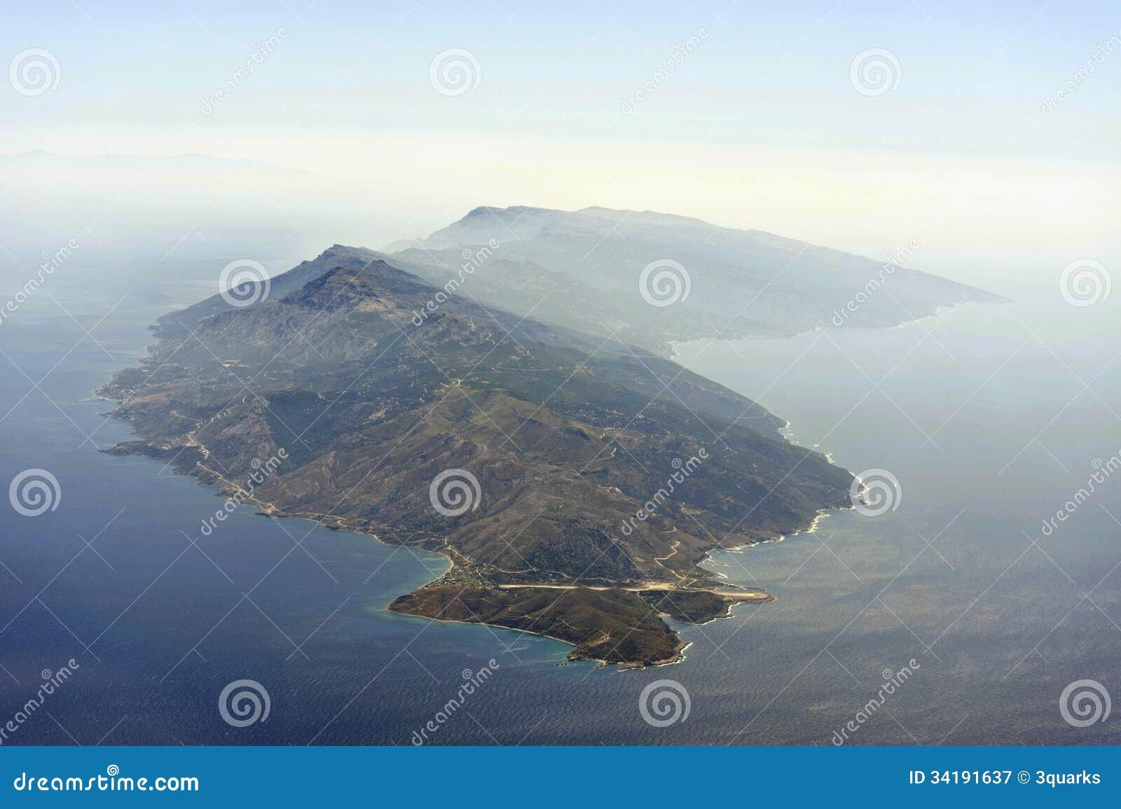 Imagem aérea de Ikaria
