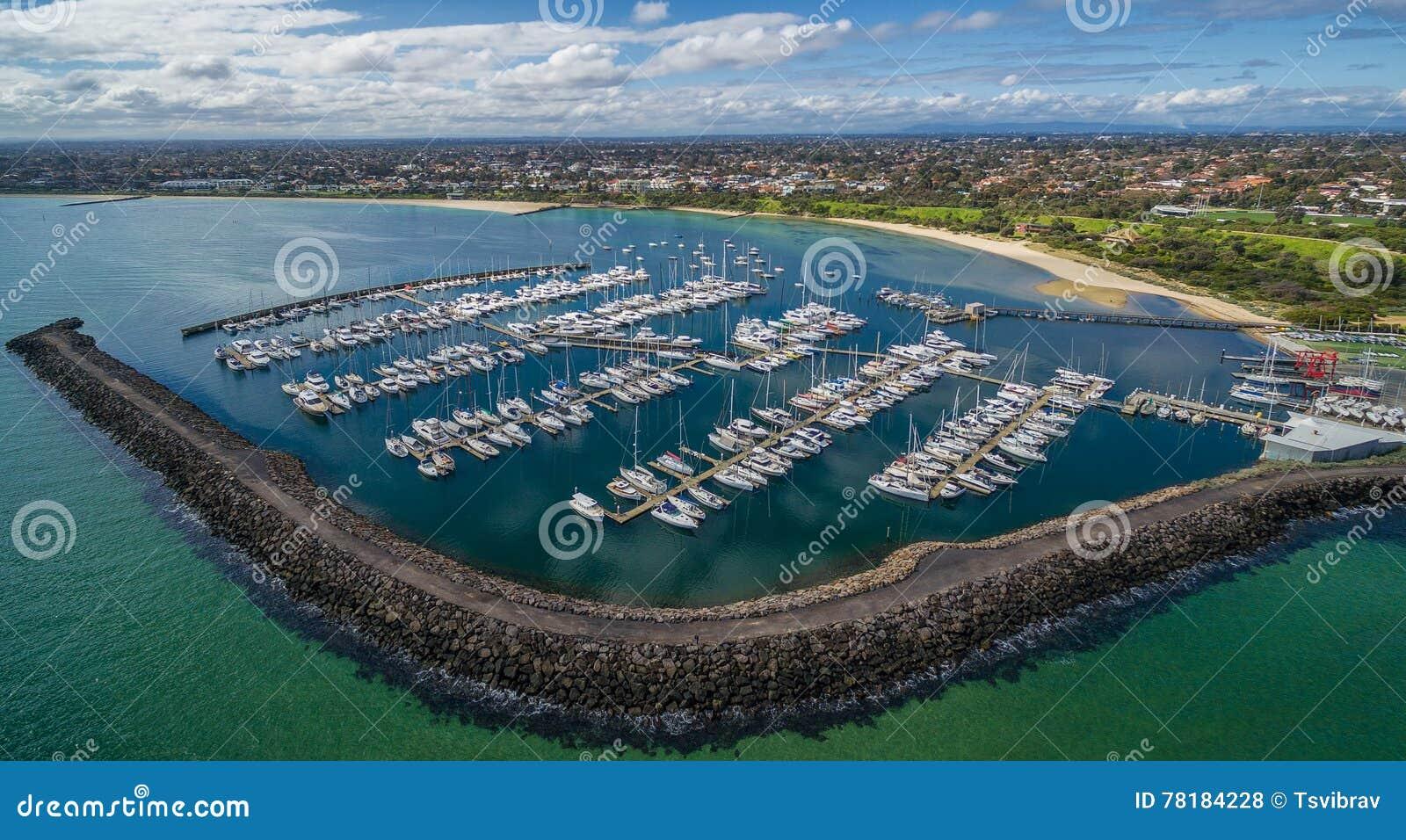 Imagem aérea do yacht club de Sandringham