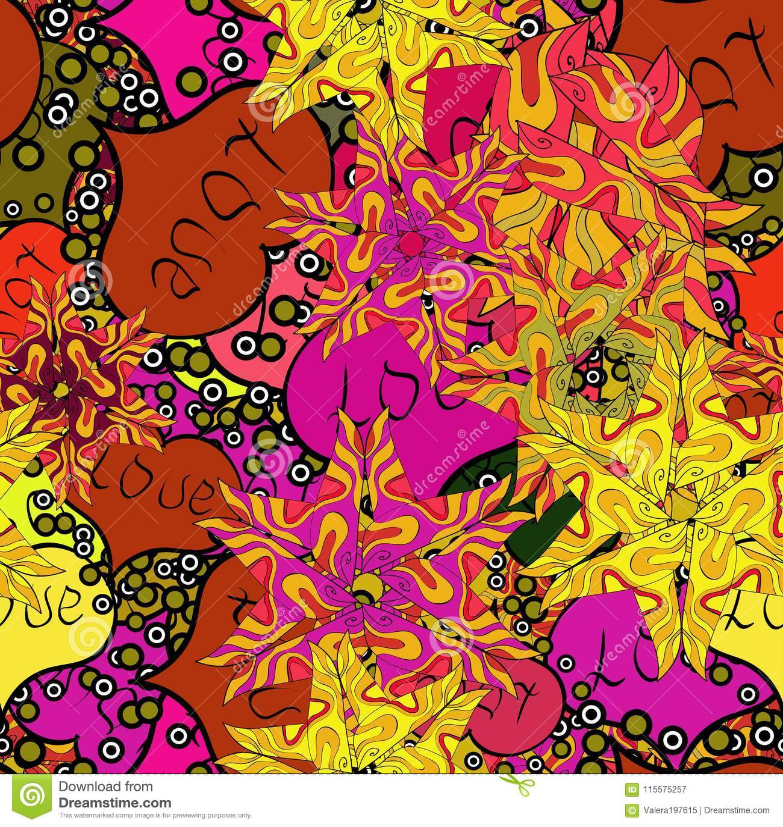 Imagem abstrata das cores
