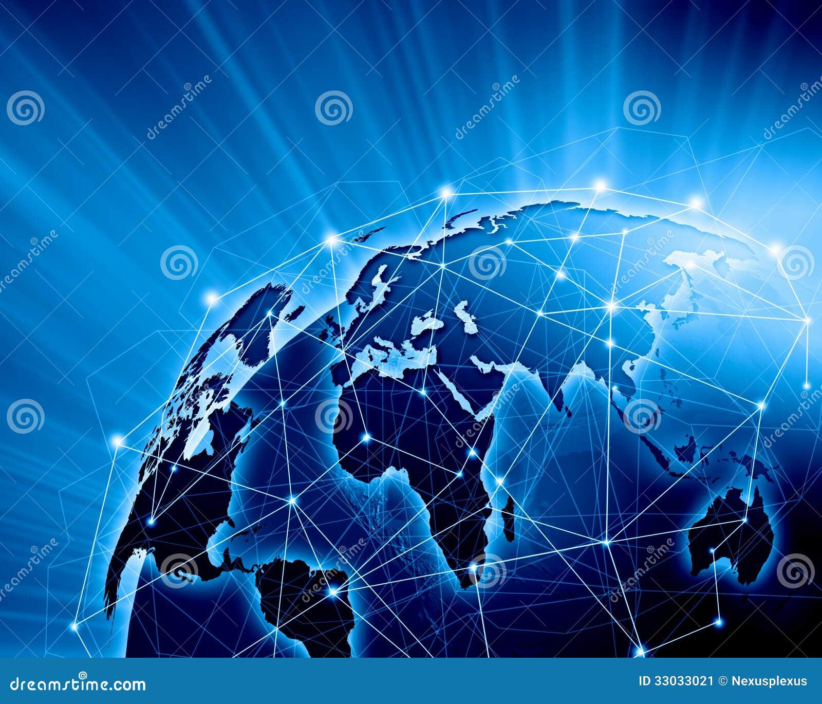 Imagem azul do globo