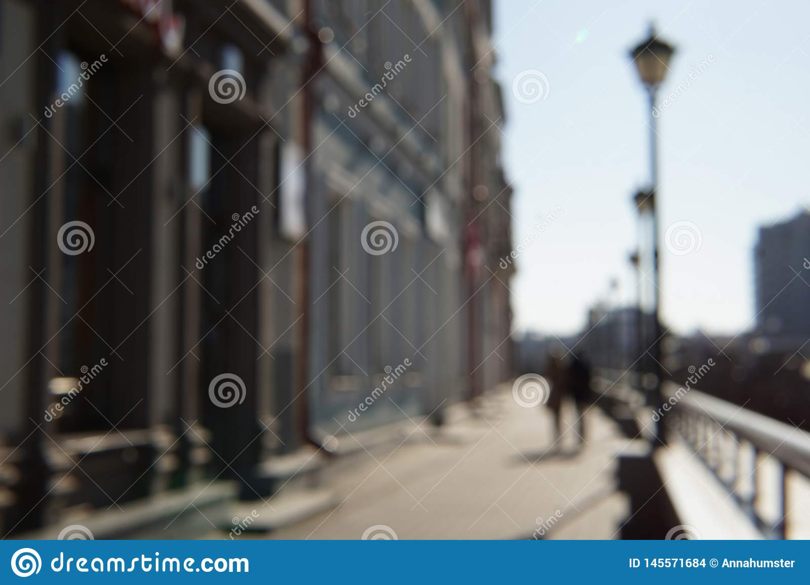 Imagem borrada dos povos na rua