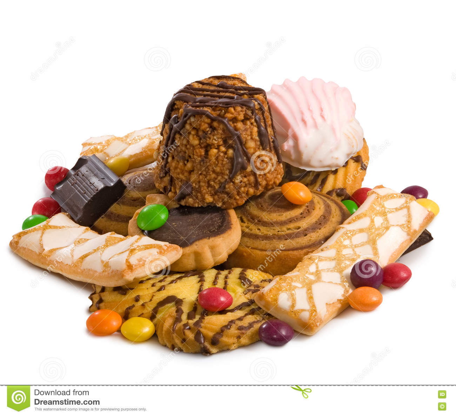 Imagem close up delicioso de muitas cookies