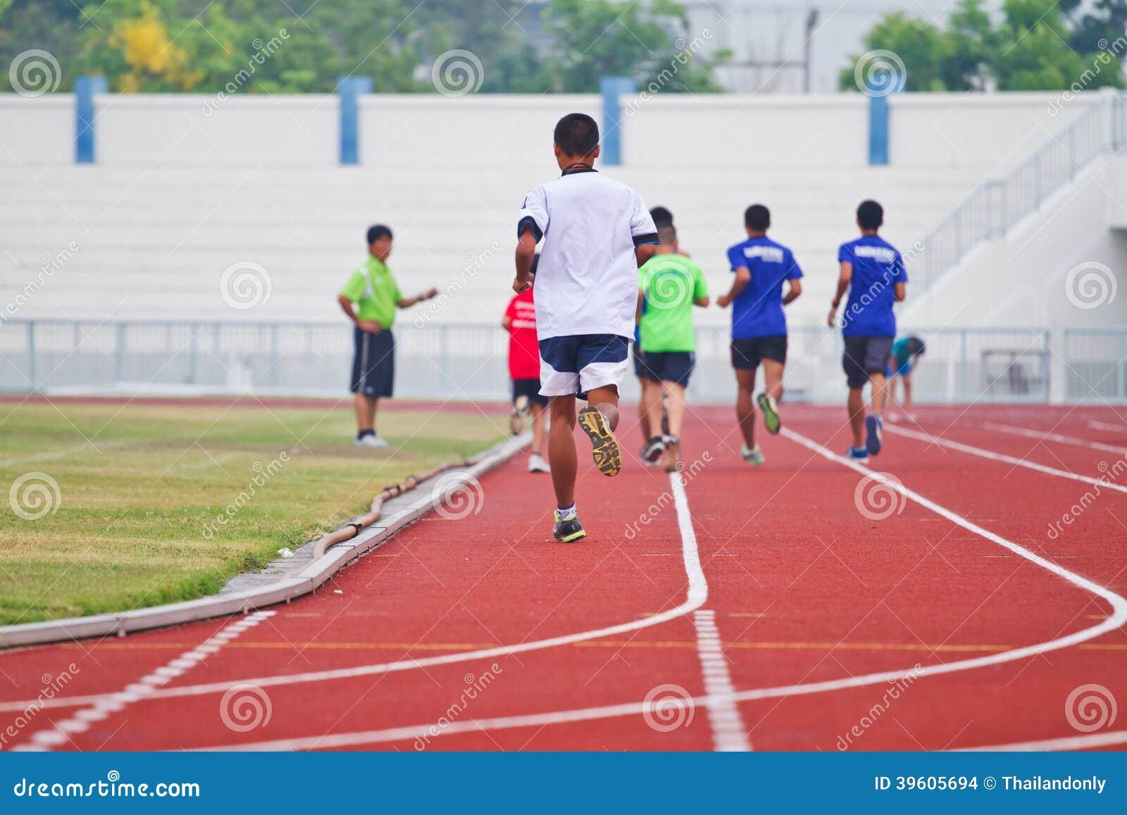 Imagem colhida do corredor no corredor competitivo