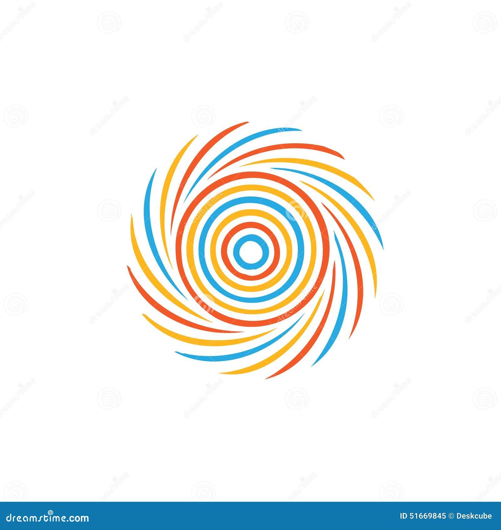 Imagem colorida abstrata do redemoinho