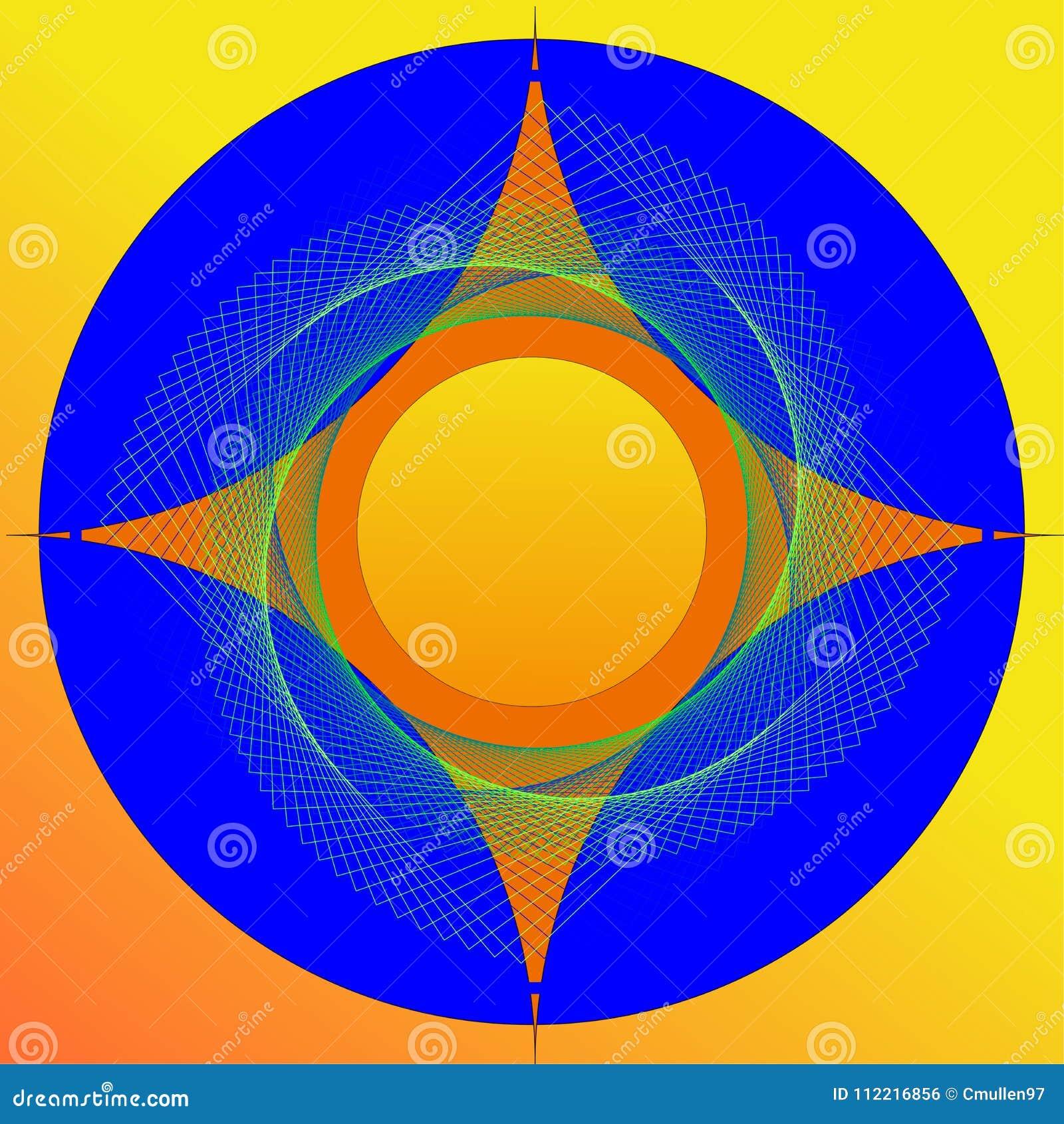 Imagem colorida do sumário da estrela de 4 pontos