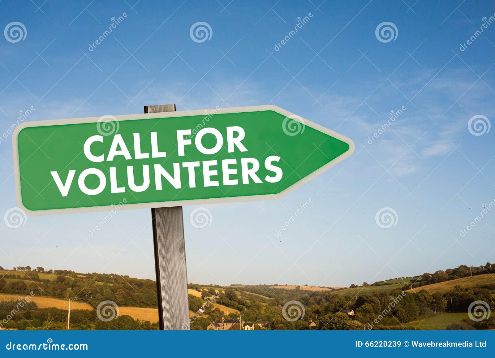 Imagem composta da chamada para voluntários
