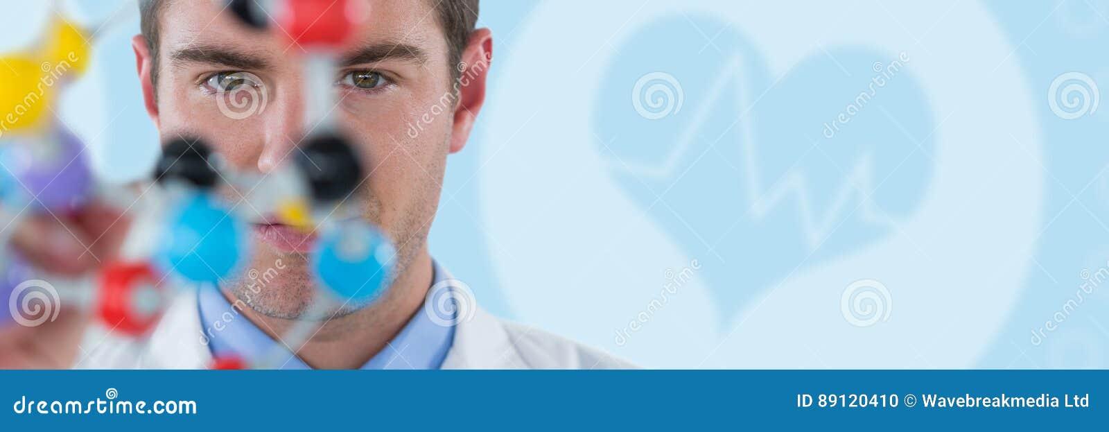 Imagem composta da estrutura de experimentação da molécula do cientista novo