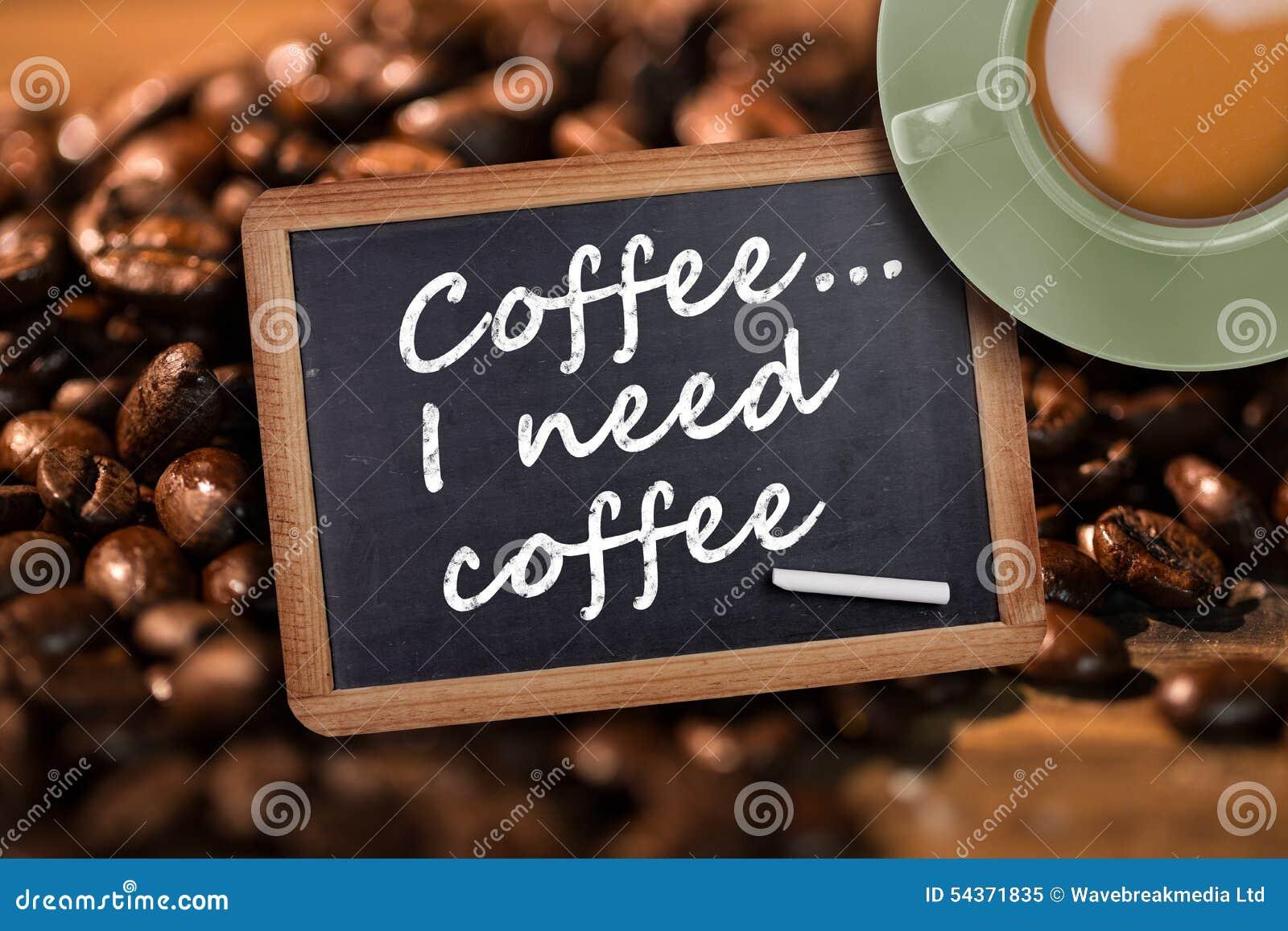 Imagem composta da xícara de café verde