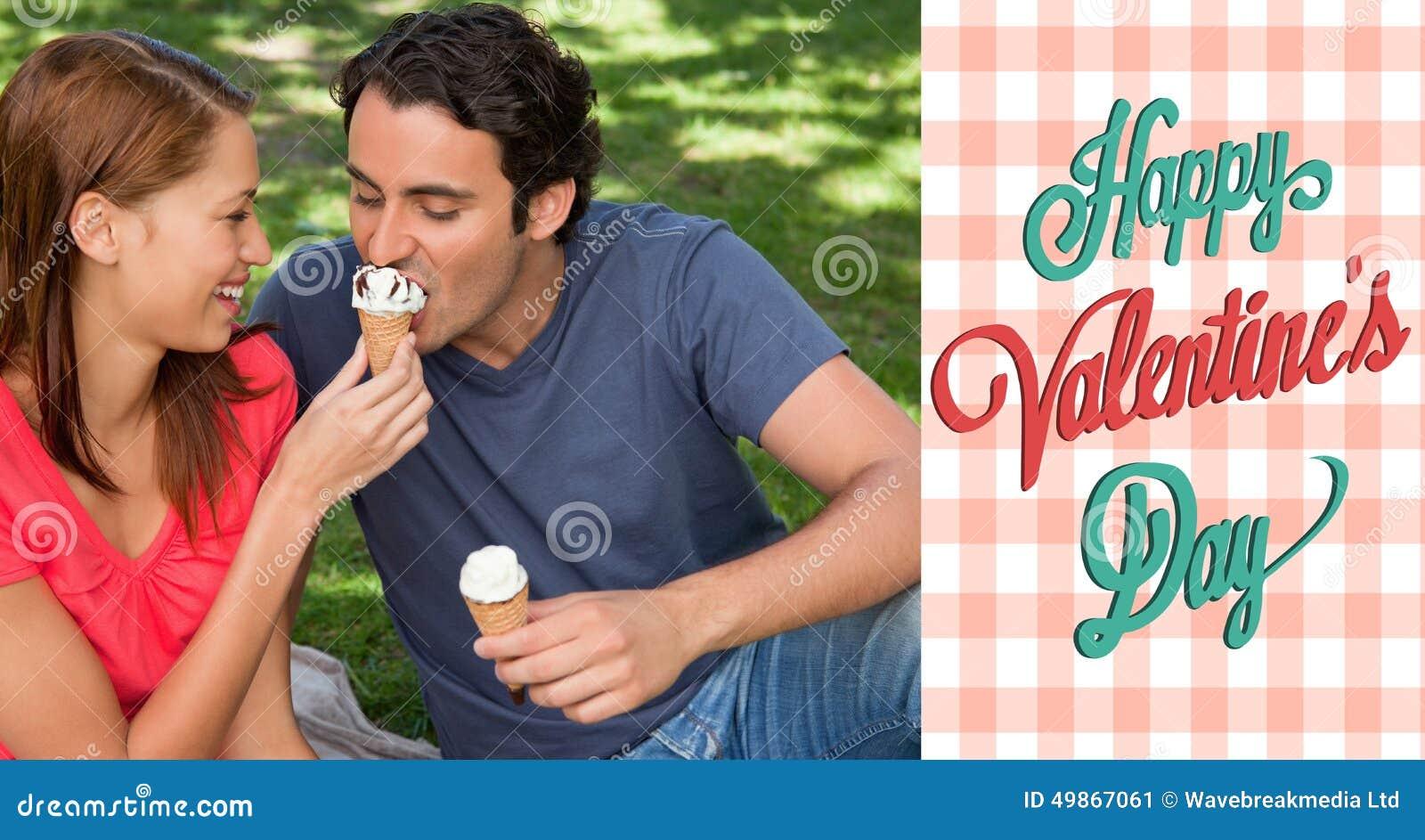 Imagem composta de pares bonitos dos Valentim