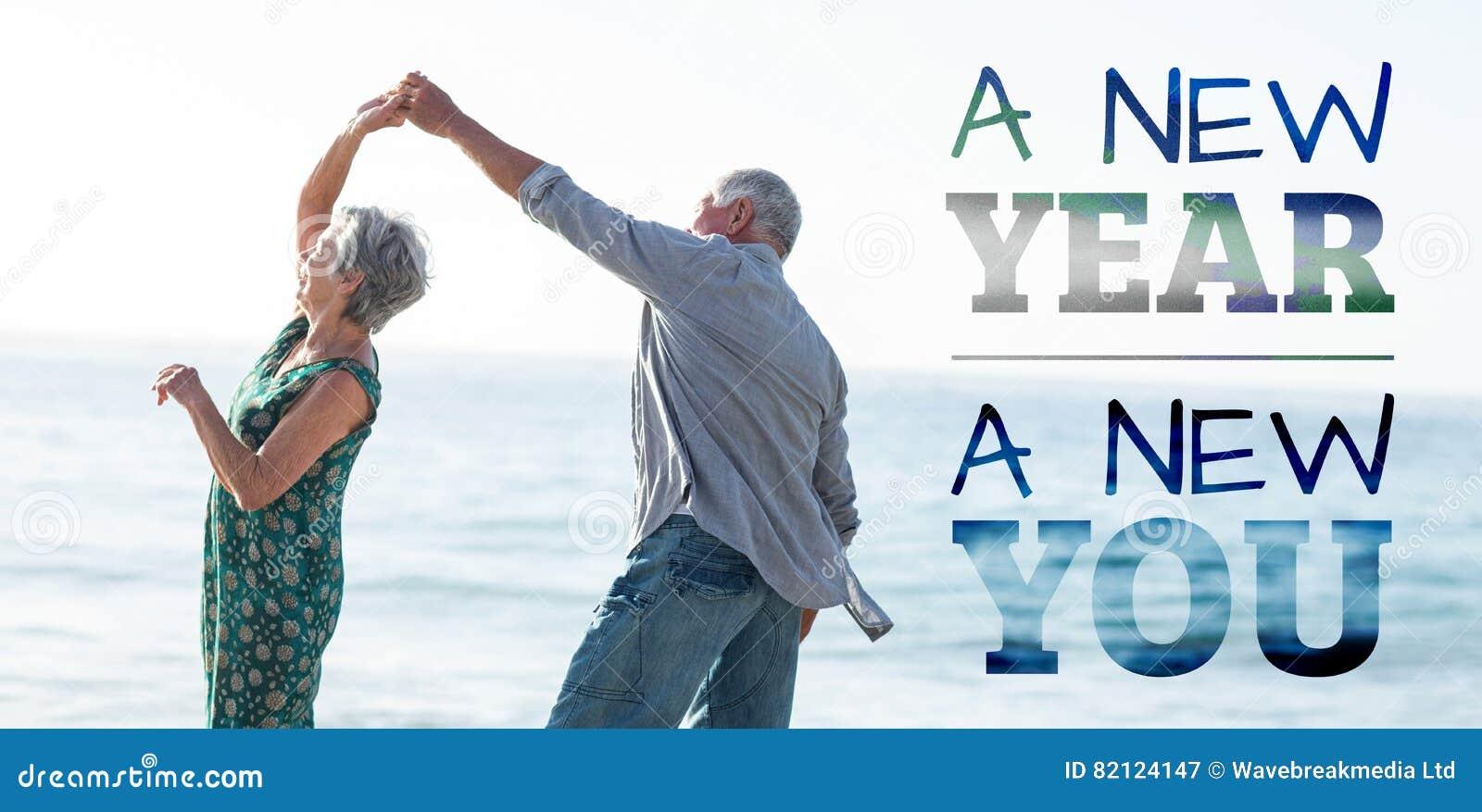 Imagem composta do ano novo nova você