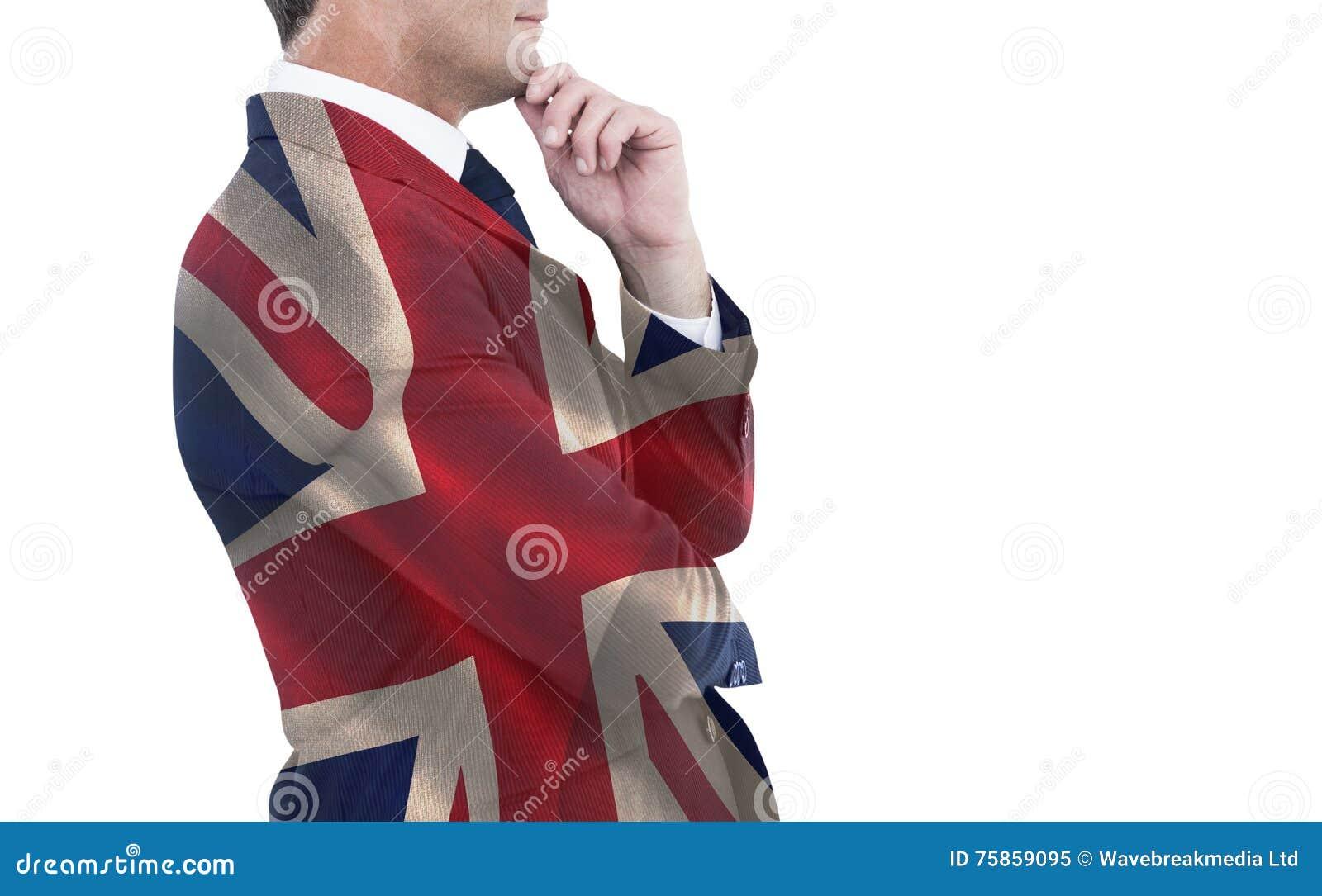 Imagem composta do homem de negócios elegante no levantamento do terno