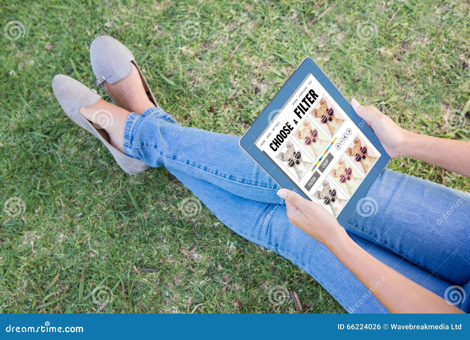 Imagem composta do menu do app do smartphone
