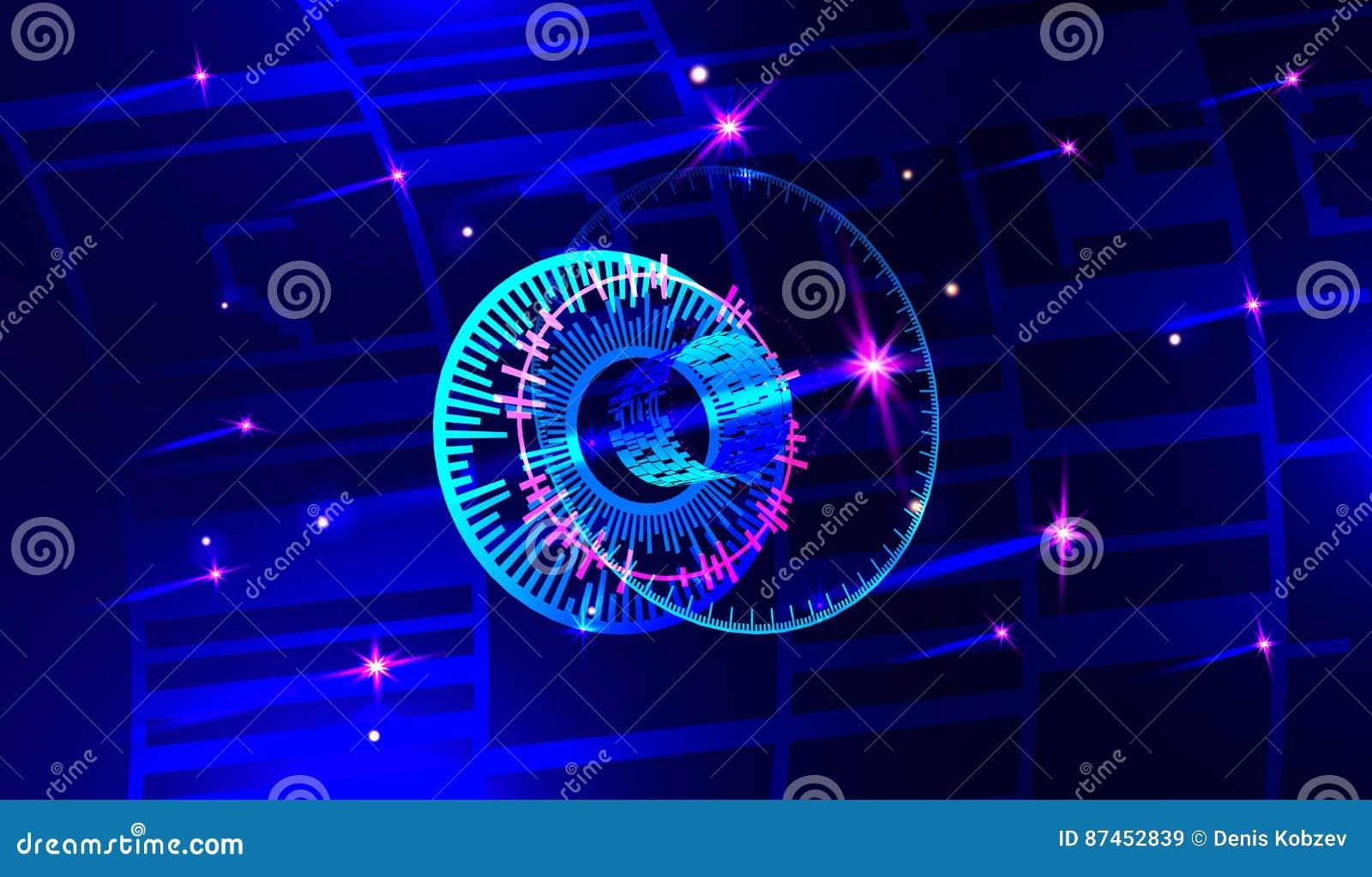 Imagem conceptual do fundo dos ícones 3d digitais