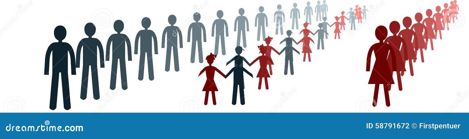 Imagem conceptual separada não funcional das famílias