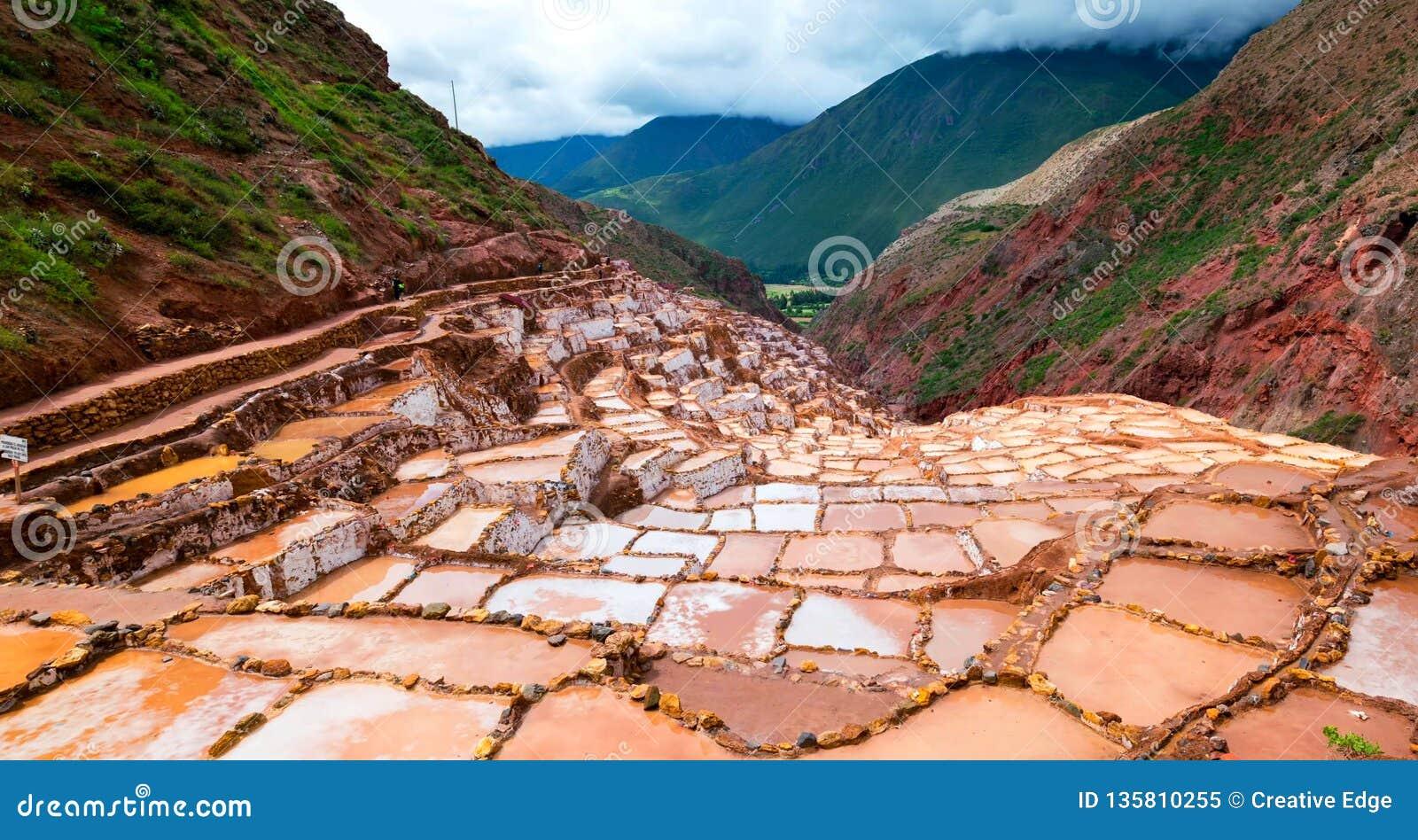 Imagem conservada em estoque da paisagem do Peru